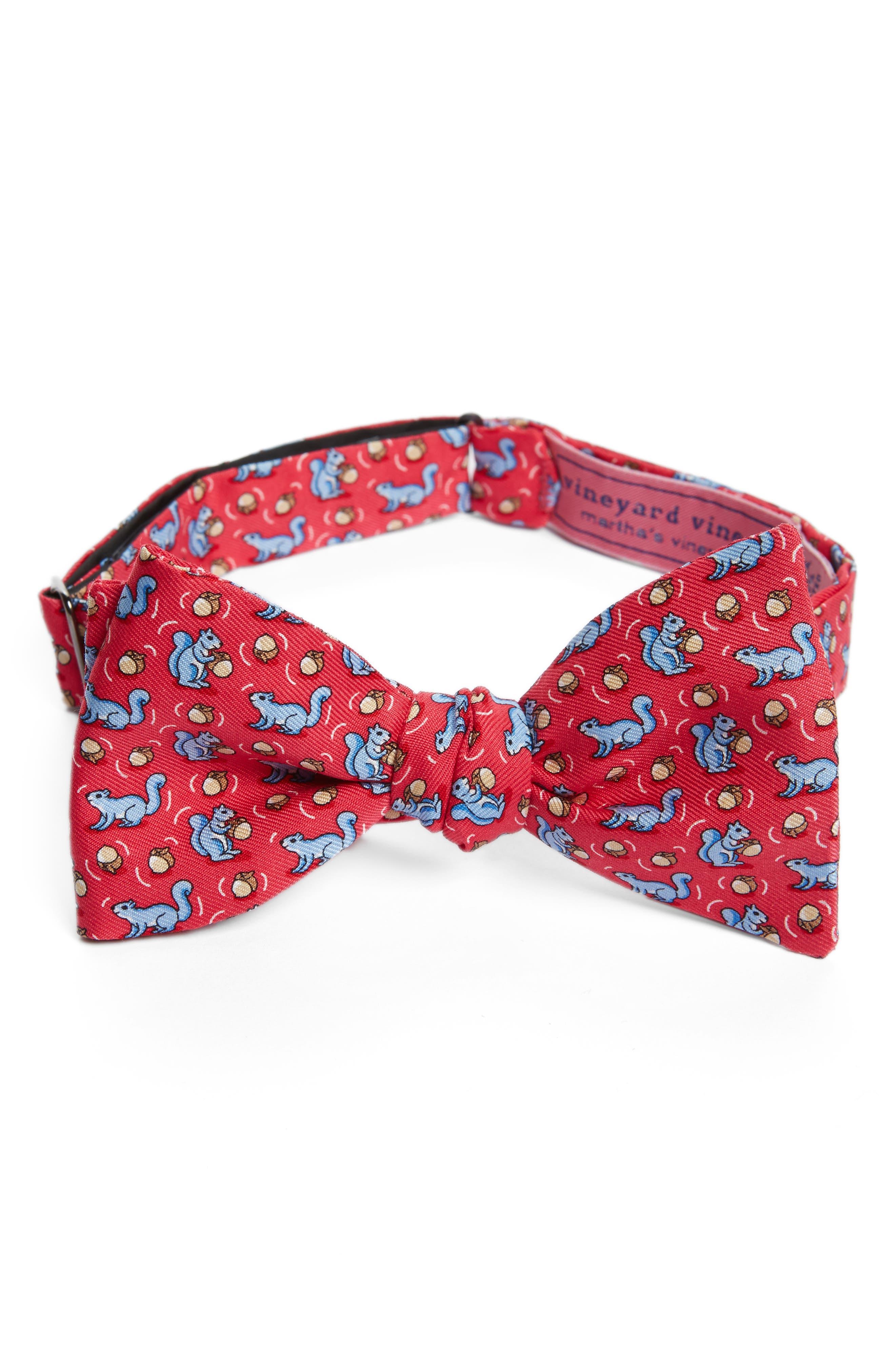 Squirrel Silk Bow Tie,                         Main,                         color, 660