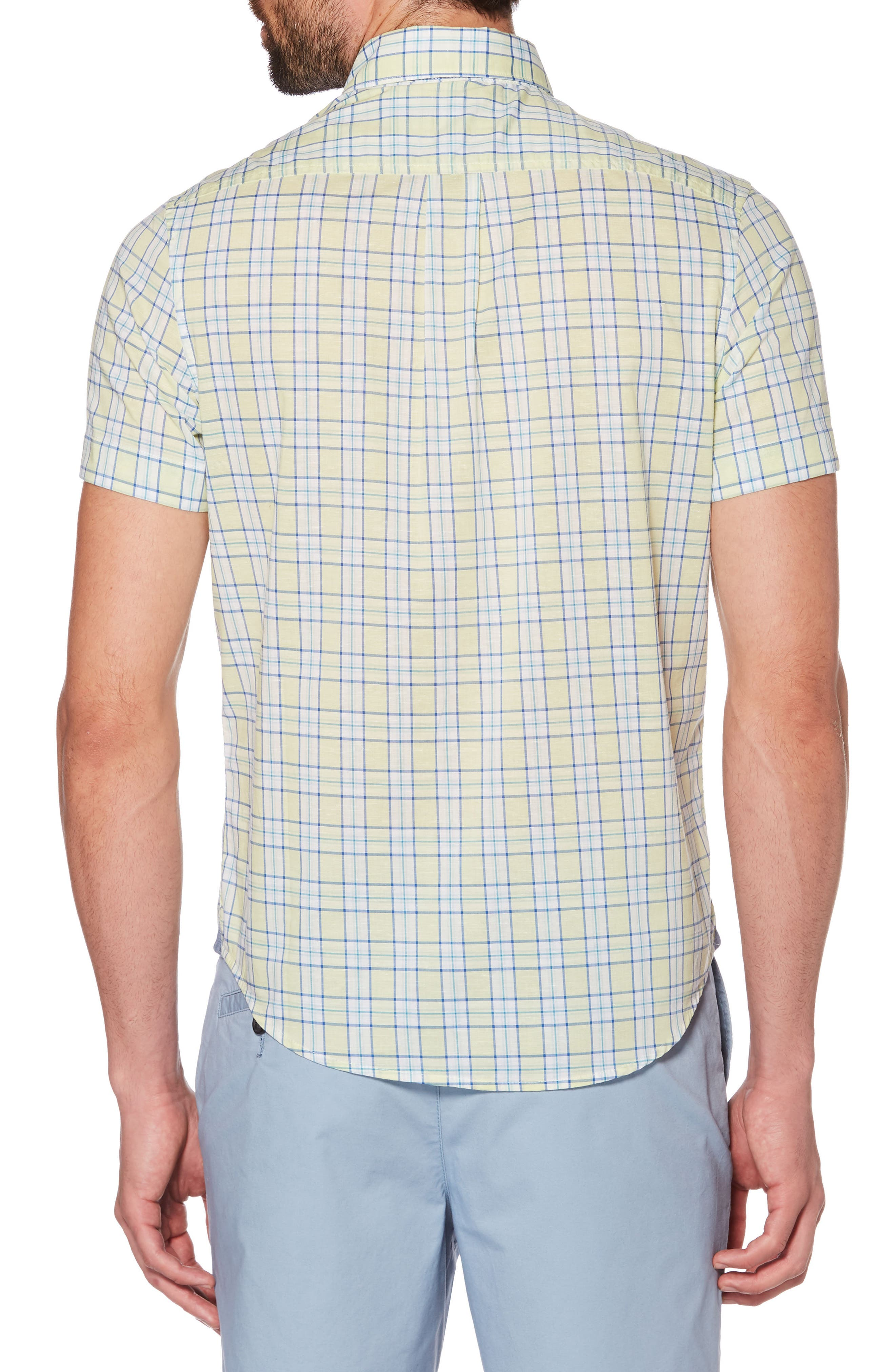 Heritage Slim Fit Stretch Plaid Shirt,                             Alternate thumbnail 2, color,                             BUTTERFLY