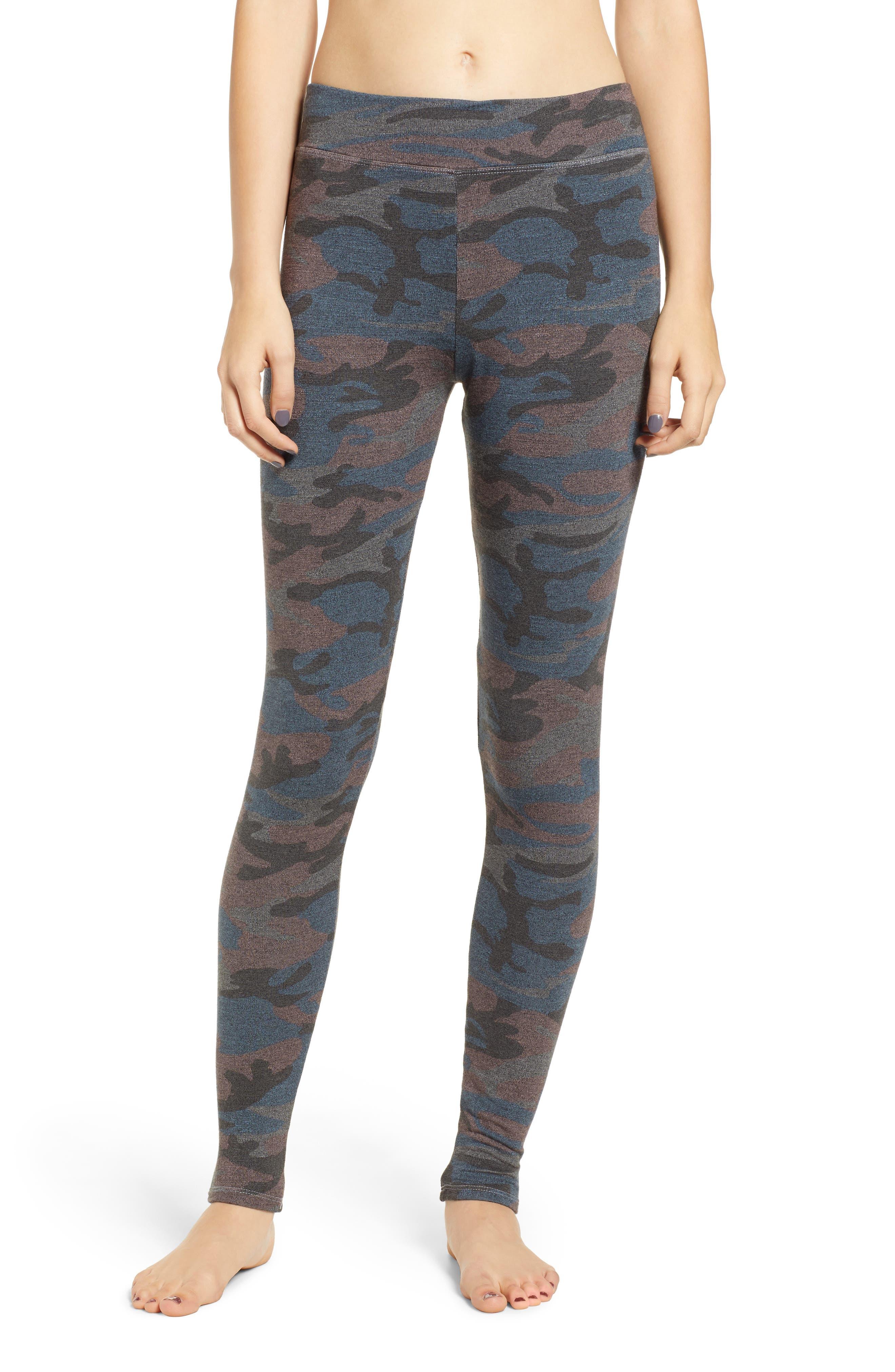 SUNDRY Camo Yoga Pants, Main, color, 020