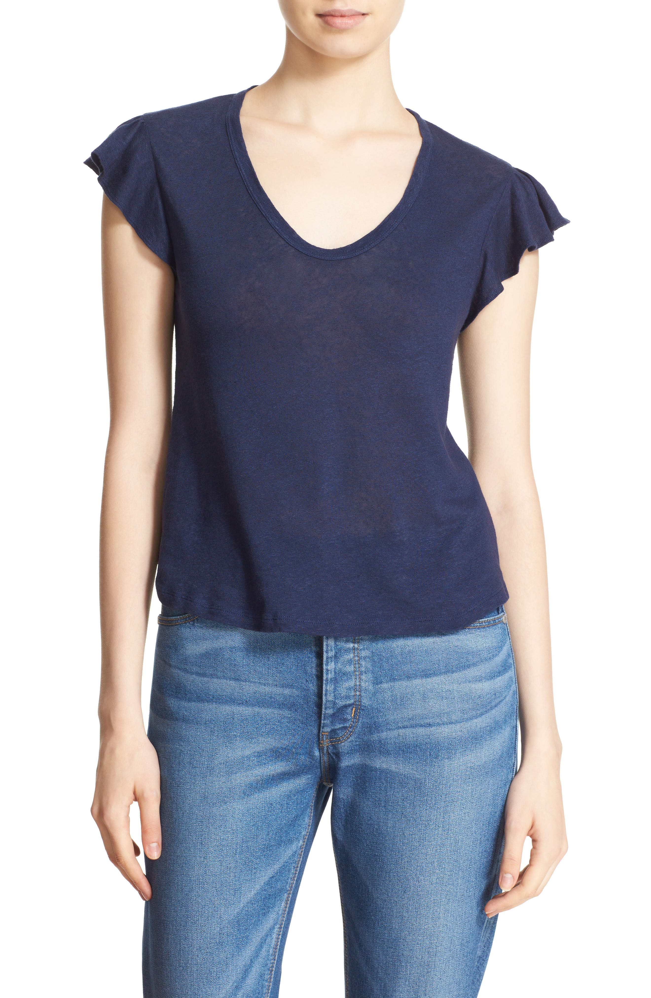 Washed Texture Jersey Tee,                             Main thumbnail 7, color,