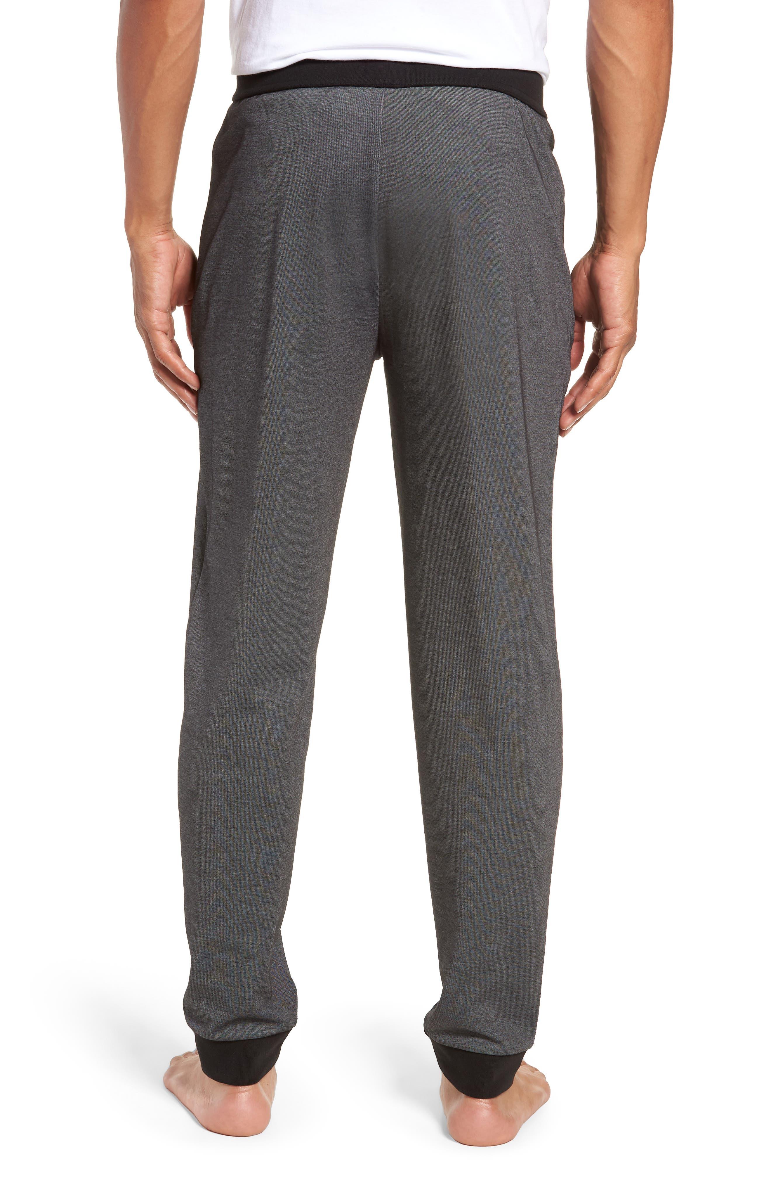 Cotton Blend Track Pants,                             Alternate thumbnail 2, color,                             BLACK