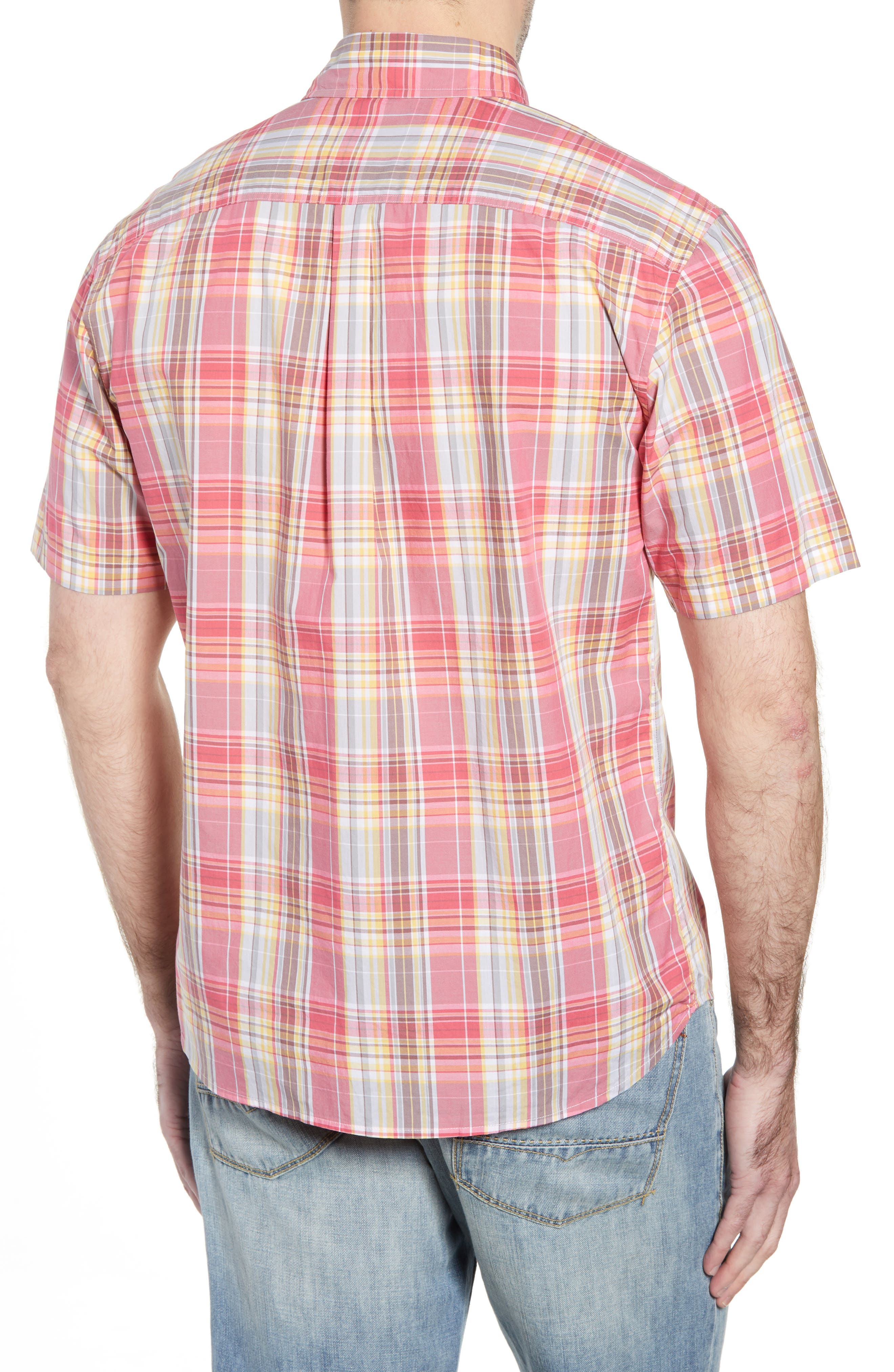 JOHNNIE-O,                             Glenn Classic Fit Plaid Sport Shirt,                             Alternate thumbnail 3, color,                             667