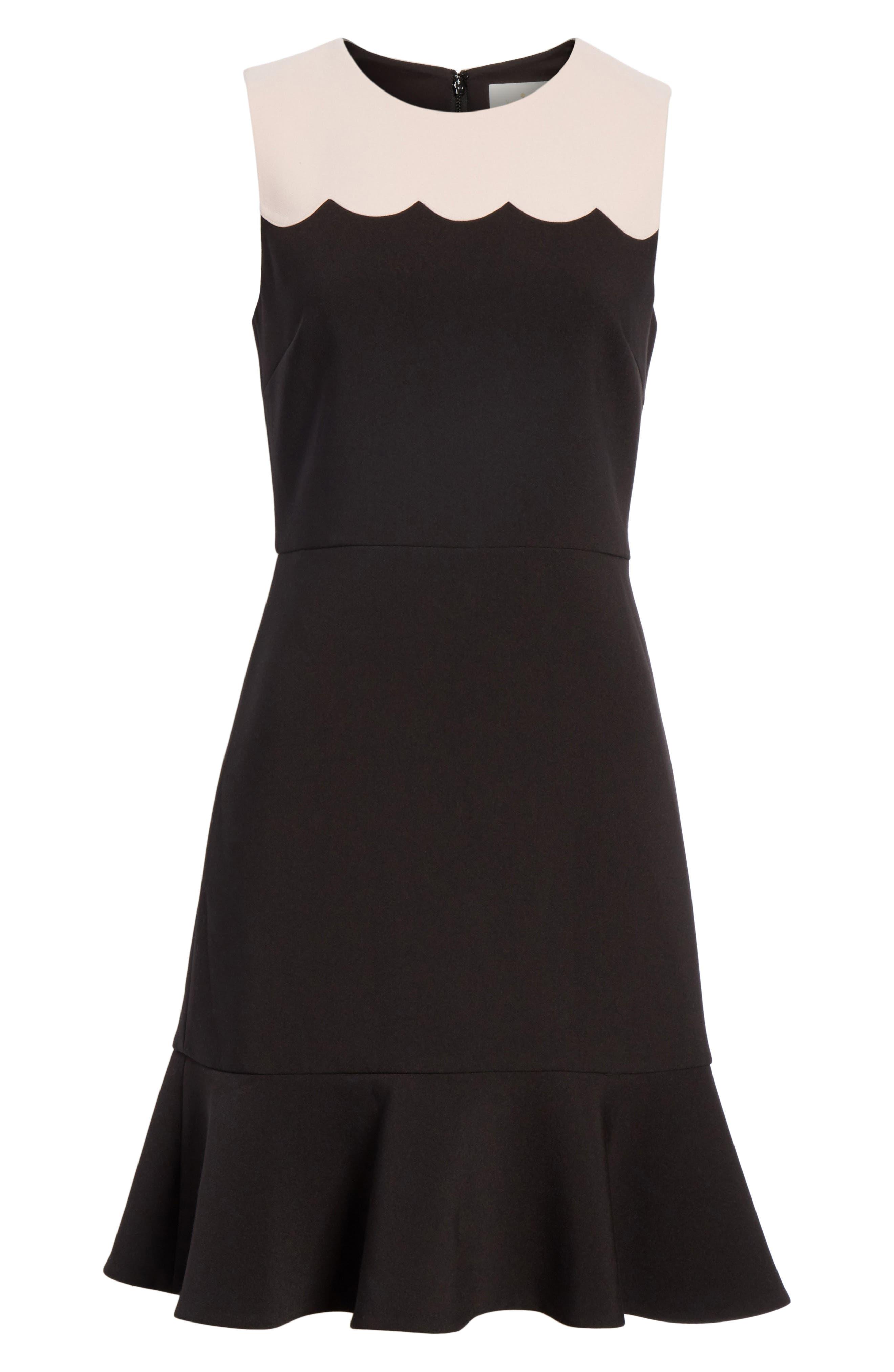 scallop sleeveless dress,                             Alternate thumbnail 6, color,                             663