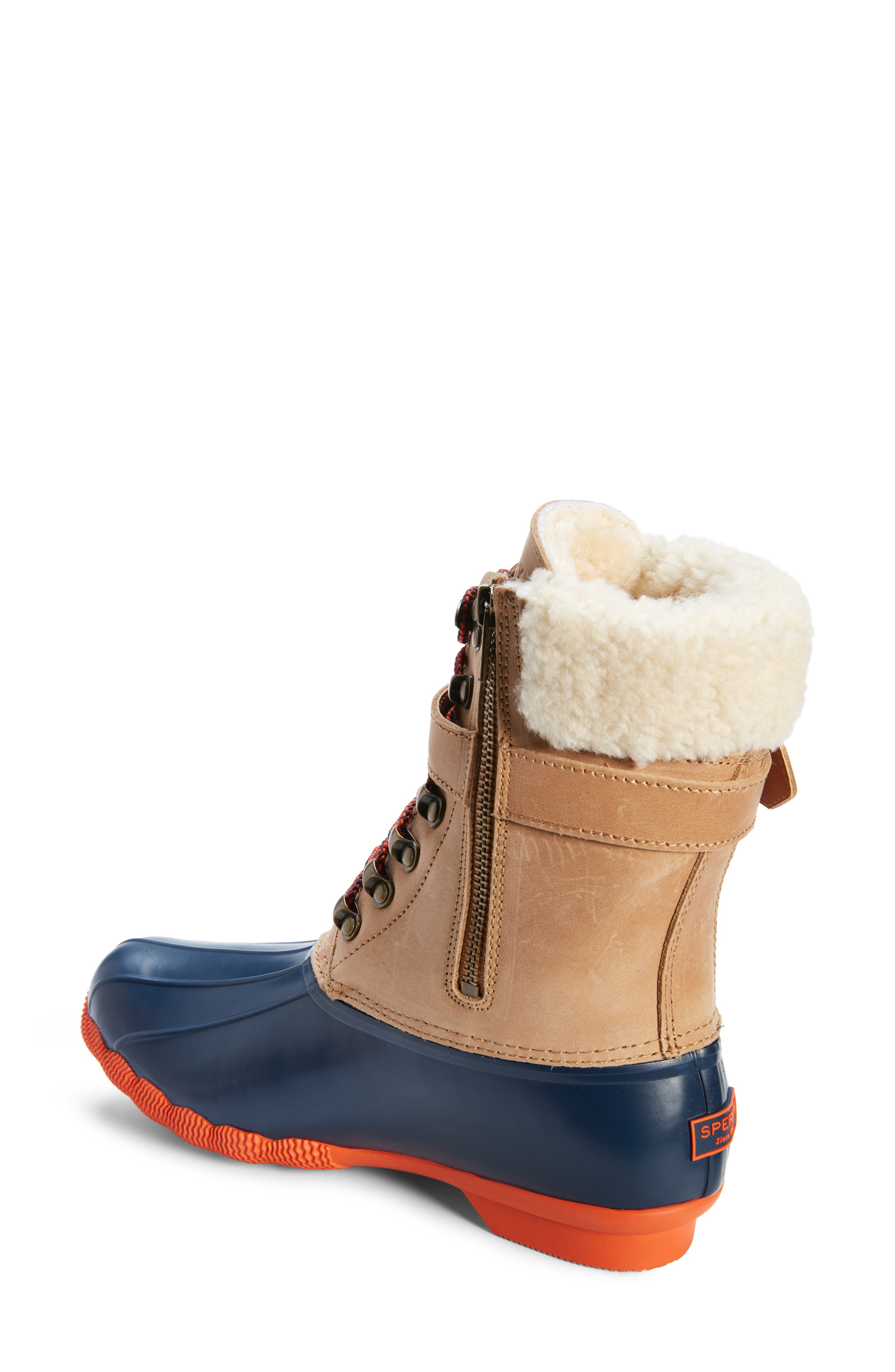 SPERRY,                             Shearwater Water-Resistant Genuine Shearling Lined Boot,                             Alternate thumbnail 2, color,                             200