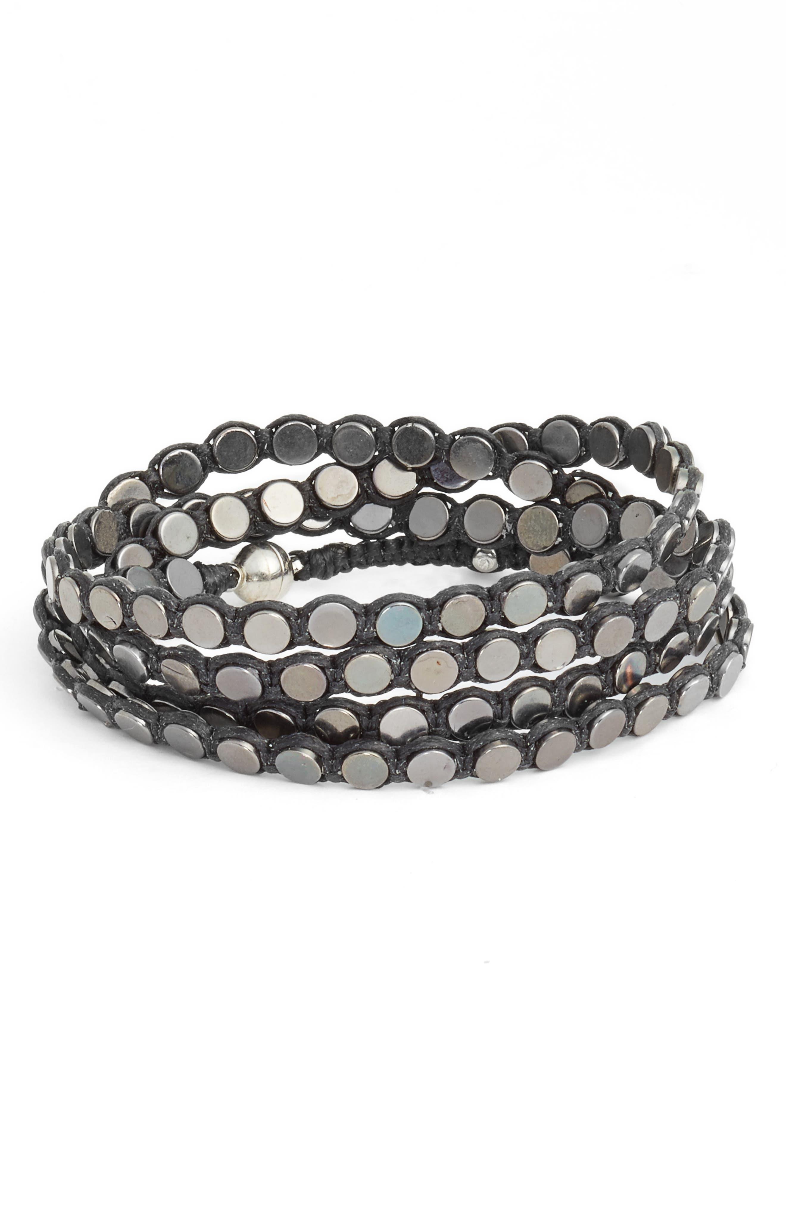 Disk Wrap Bracelet,                         Main,                         color,