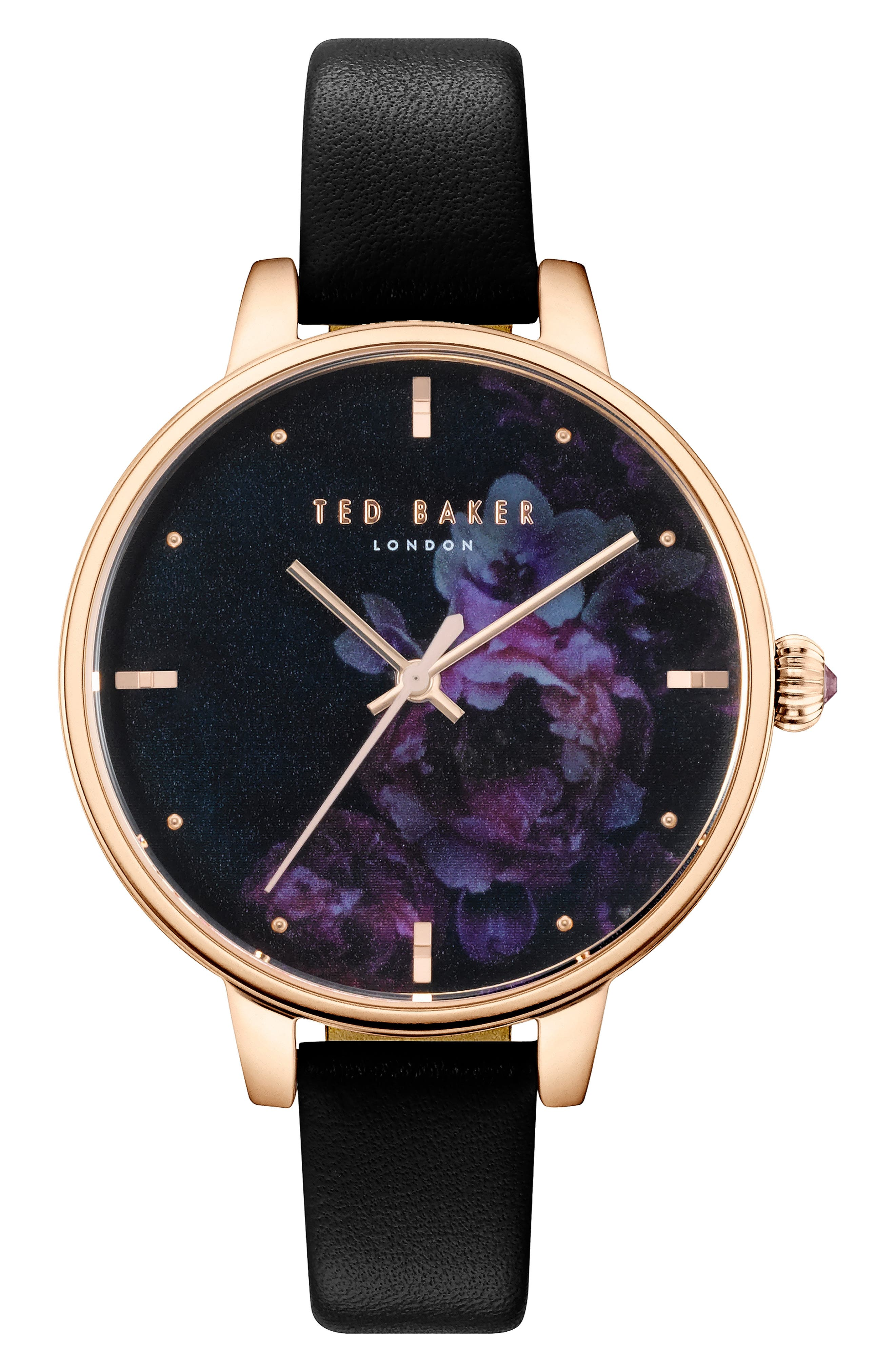 Ted Baker London Kate Leather Strap Watch,