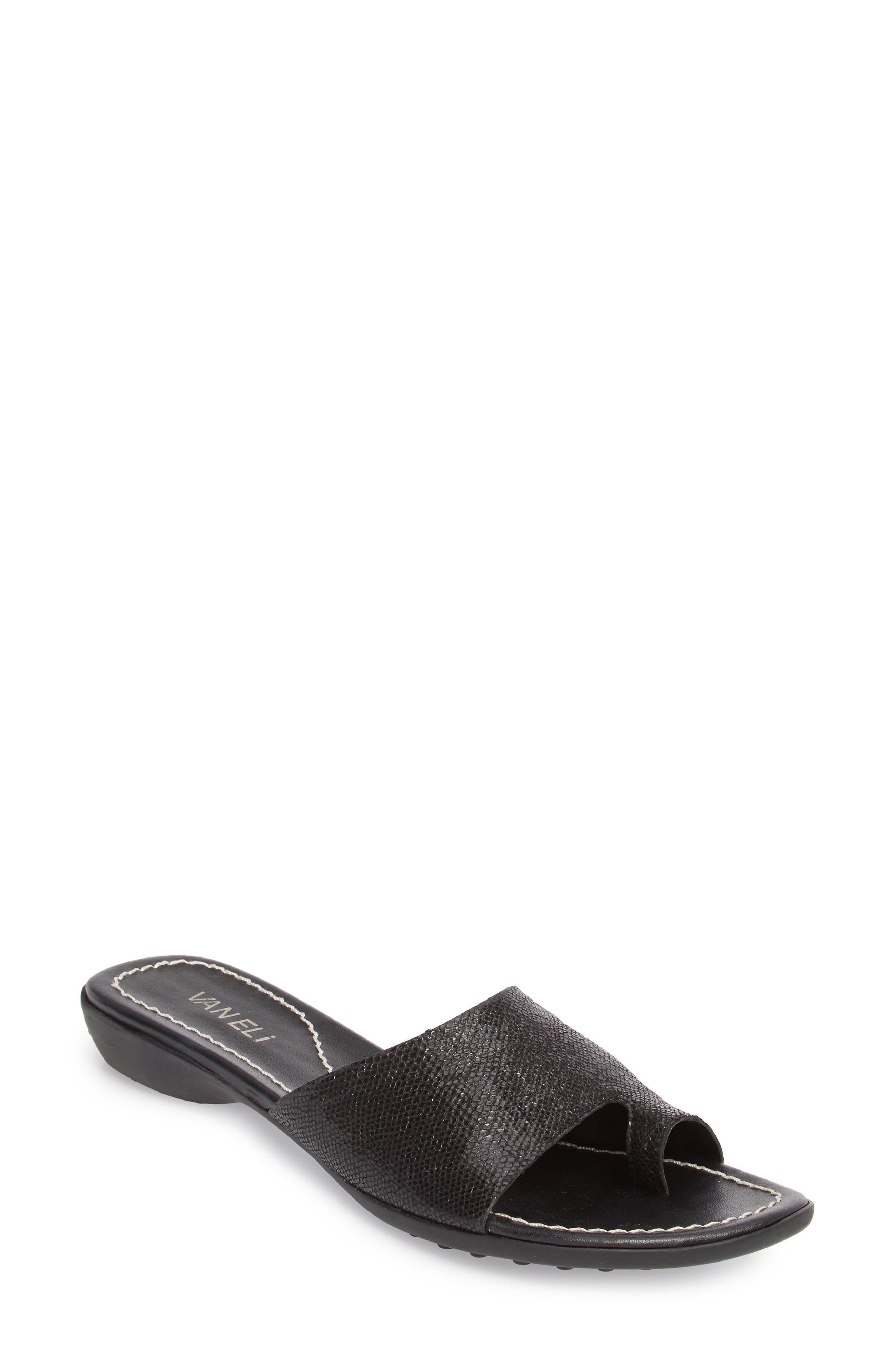 'Tallis' Snake Embossed Leather Slide Sandal,                             Main thumbnail 2, color,