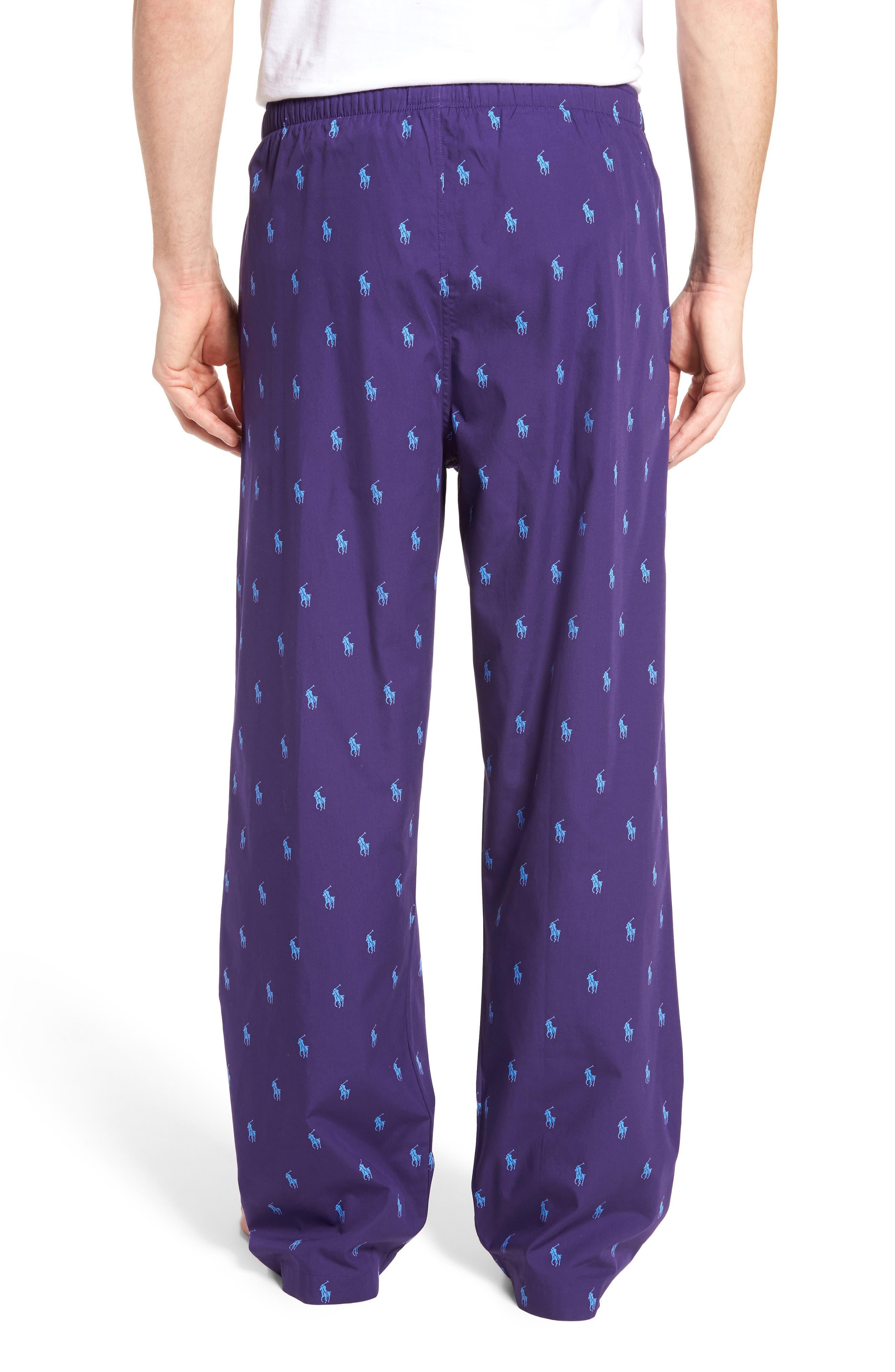 Polo Ralph Lauren Cotton Lounge Pants,                             Alternate thumbnail 9, color,