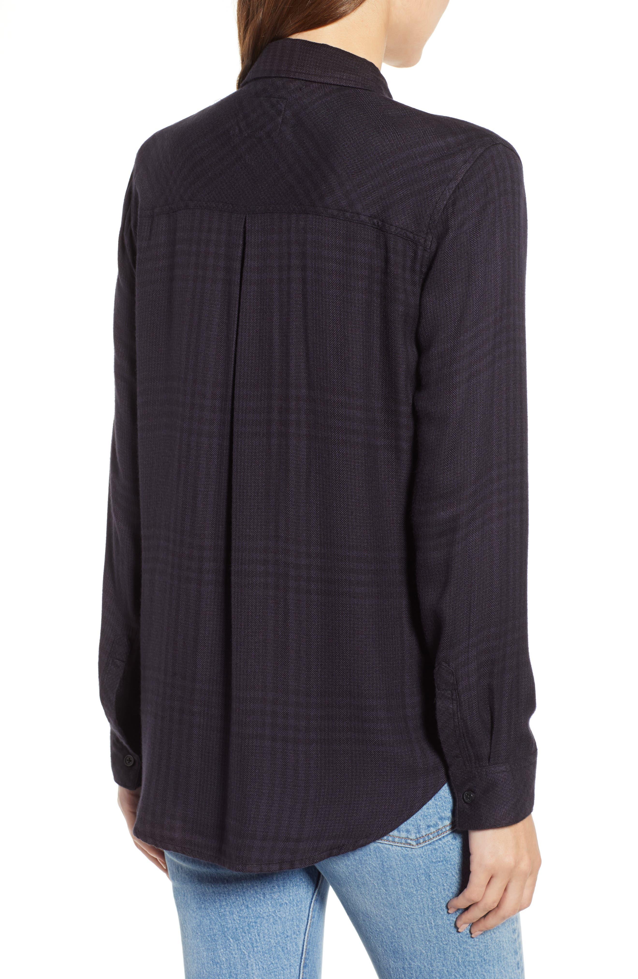 Hunter Plaid Shirt,                             Alternate thumbnail 2, color,                             CHARCOAL SHADOW