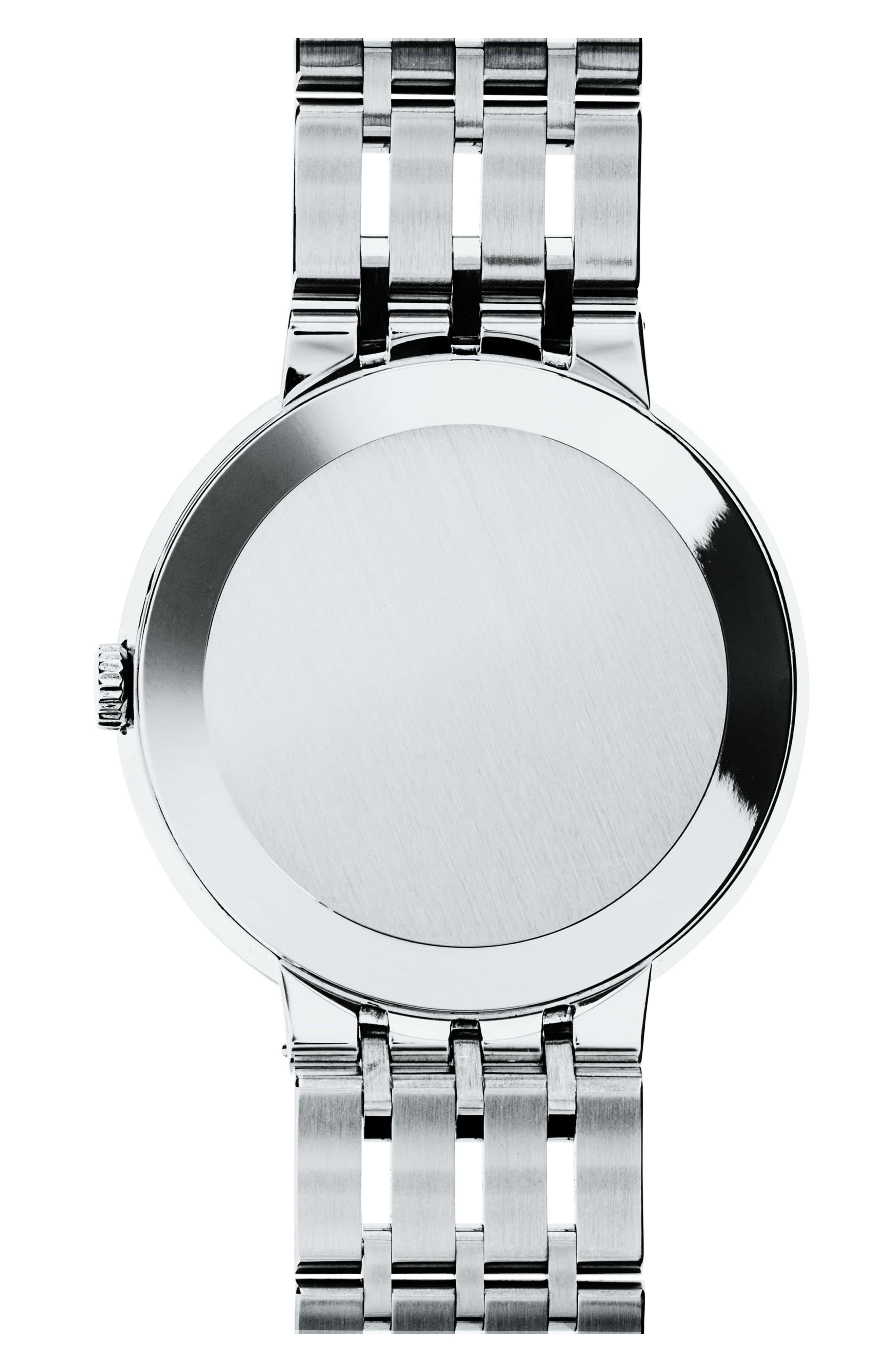 'Esperanza' Bracelet Watch, 39mm,                             Alternate thumbnail 2, color,                             SILVER/ BLACK