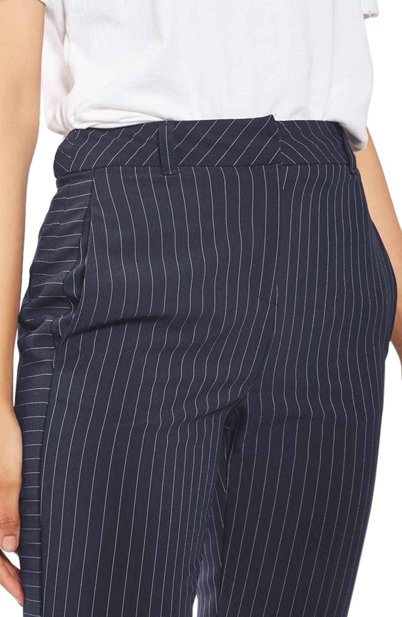 Cut About Pinstripe Cigarette Trousers,                             Alternate thumbnail 3, color,                             410