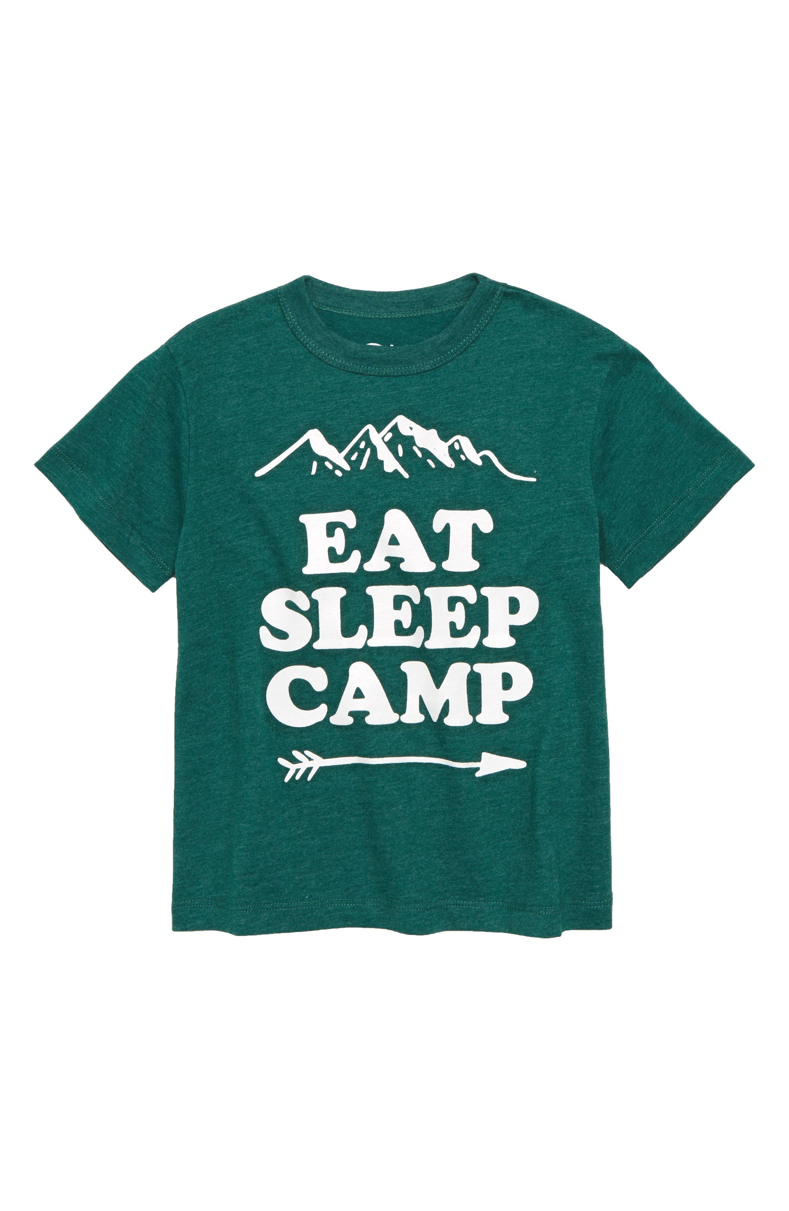 Eat Sleep Camp Graphic T-Shirt,                             Main thumbnail 1, color,                             307
