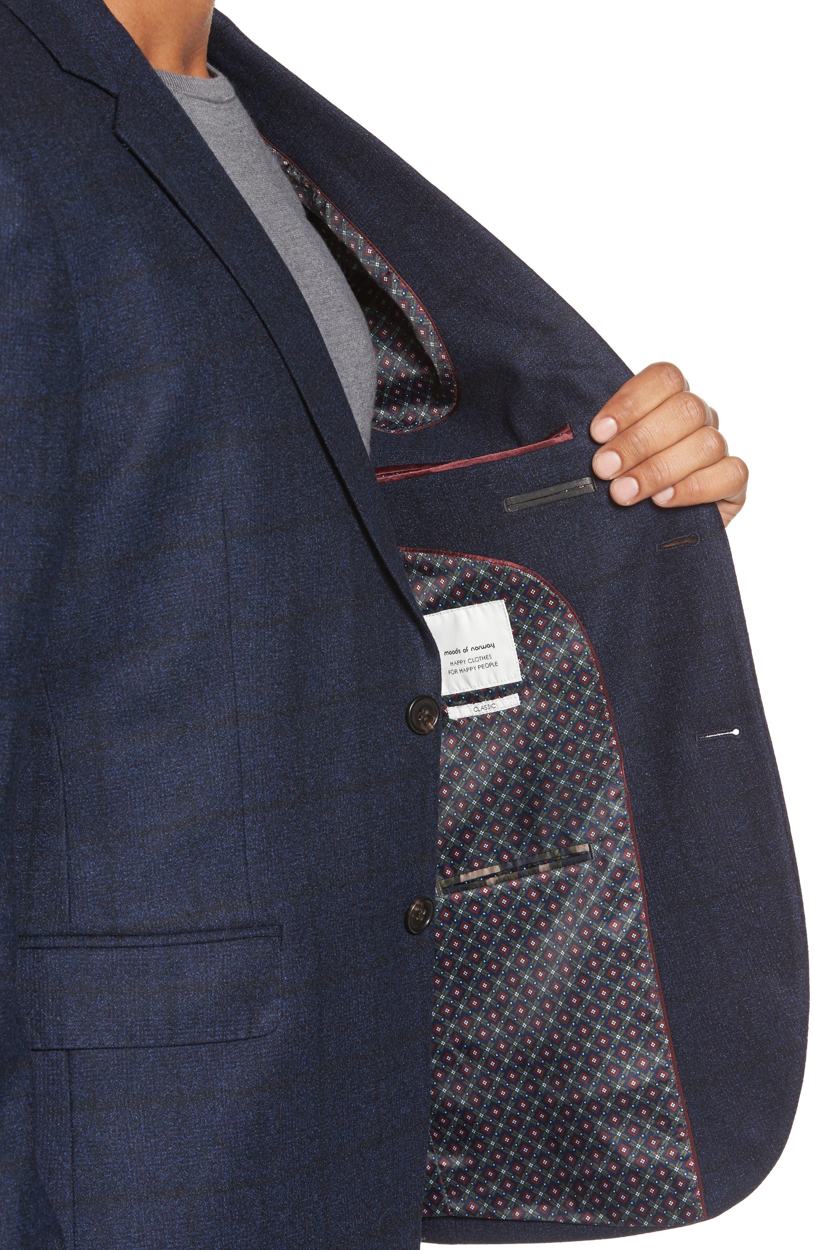 Andersen Trim Fit Plaid Wool Sport Coat,                             Alternate thumbnail 4, color,                             209