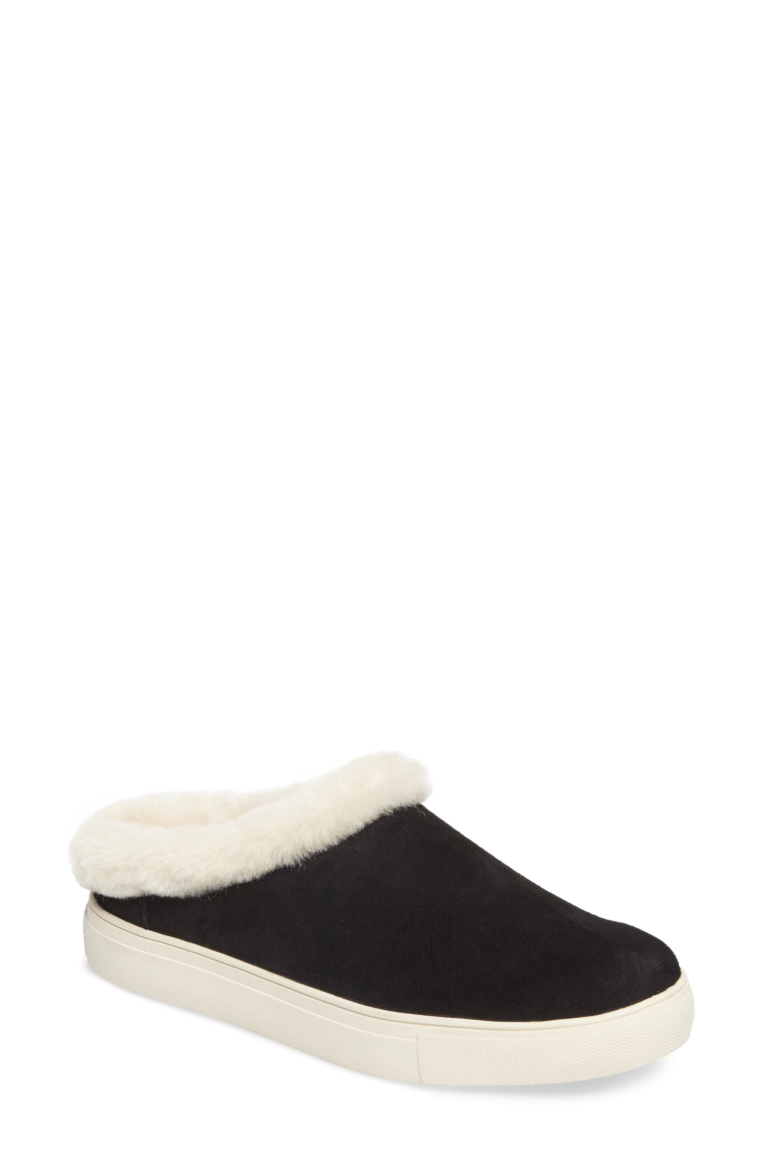 Leia Genuine Shearling Lined Slip-On,                             Main thumbnail 1, color,                             001