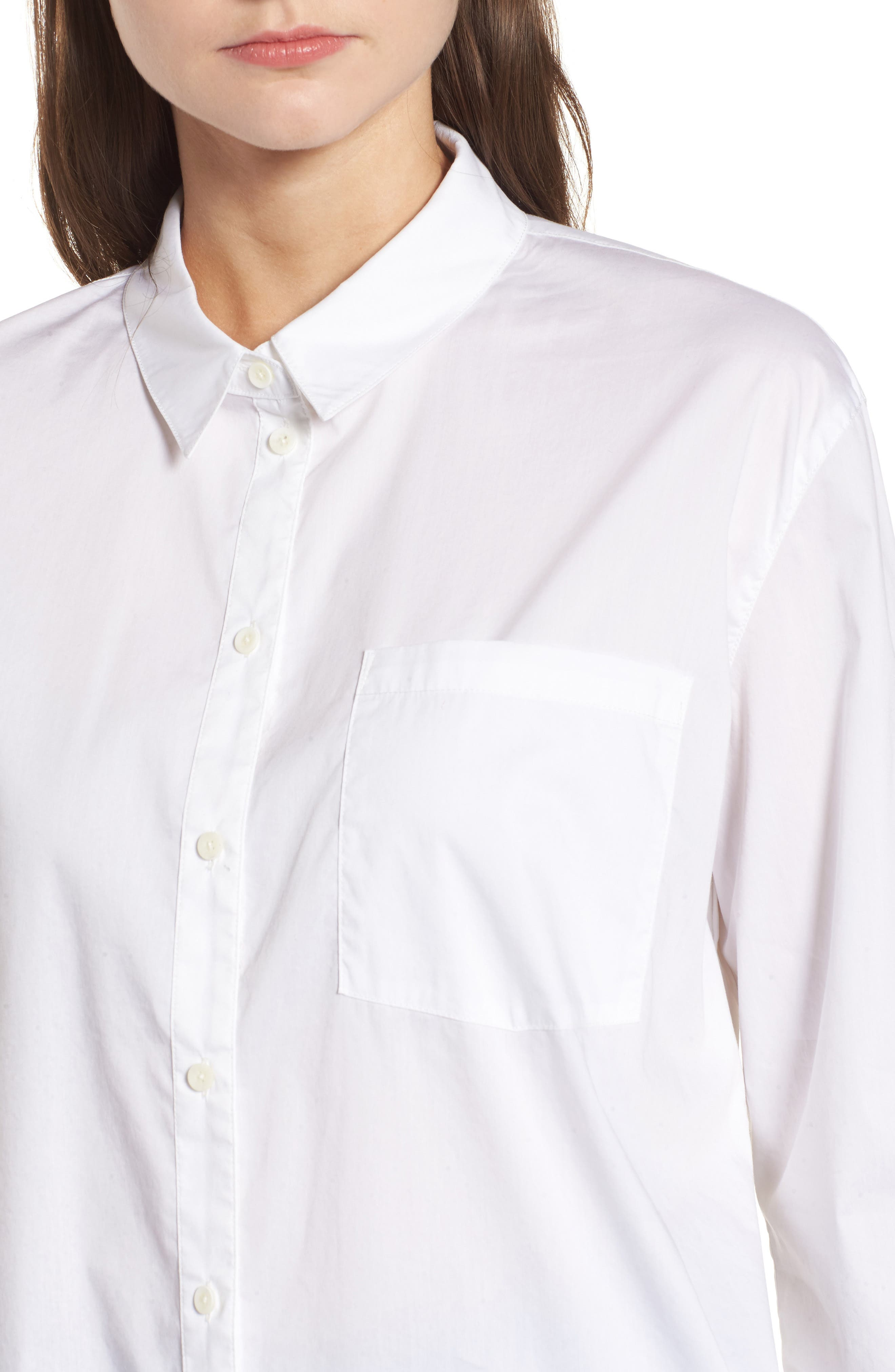 Oversize Shirt,                             Alternate thumbnail 4, color,                             100