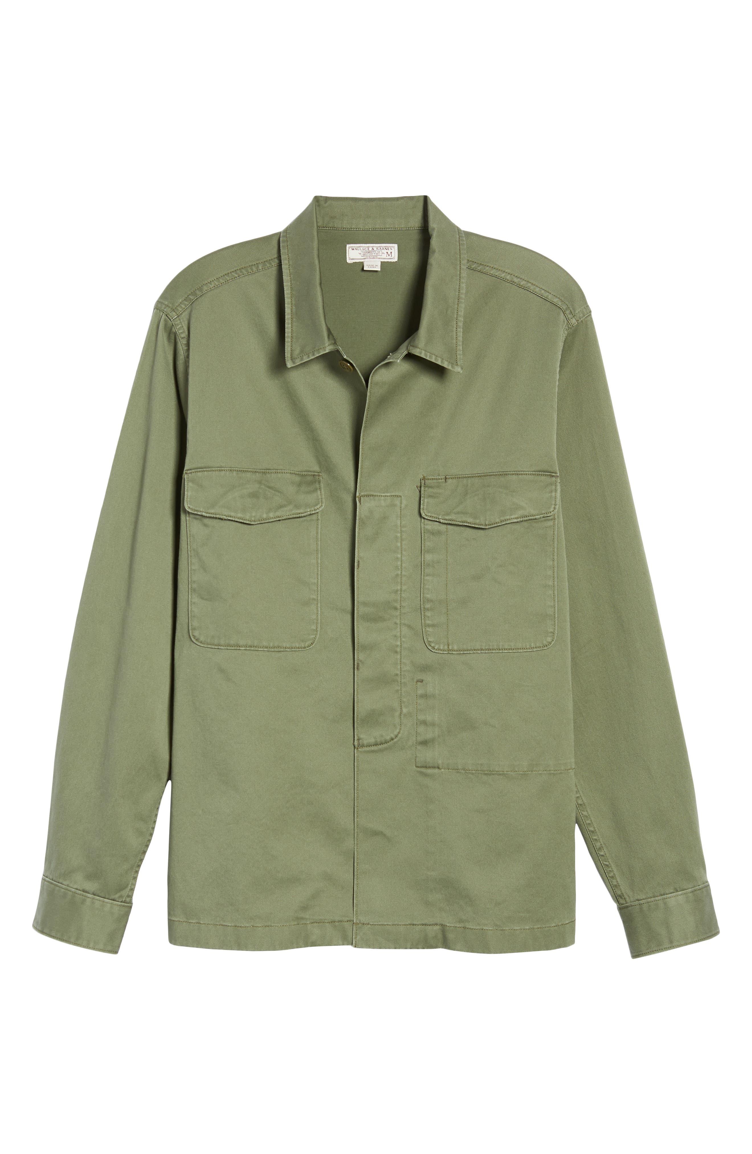 Regular Fit Military Shirt Jacket,                             Alternate thumbnail 5, color,                             SURPLUS OLIVE