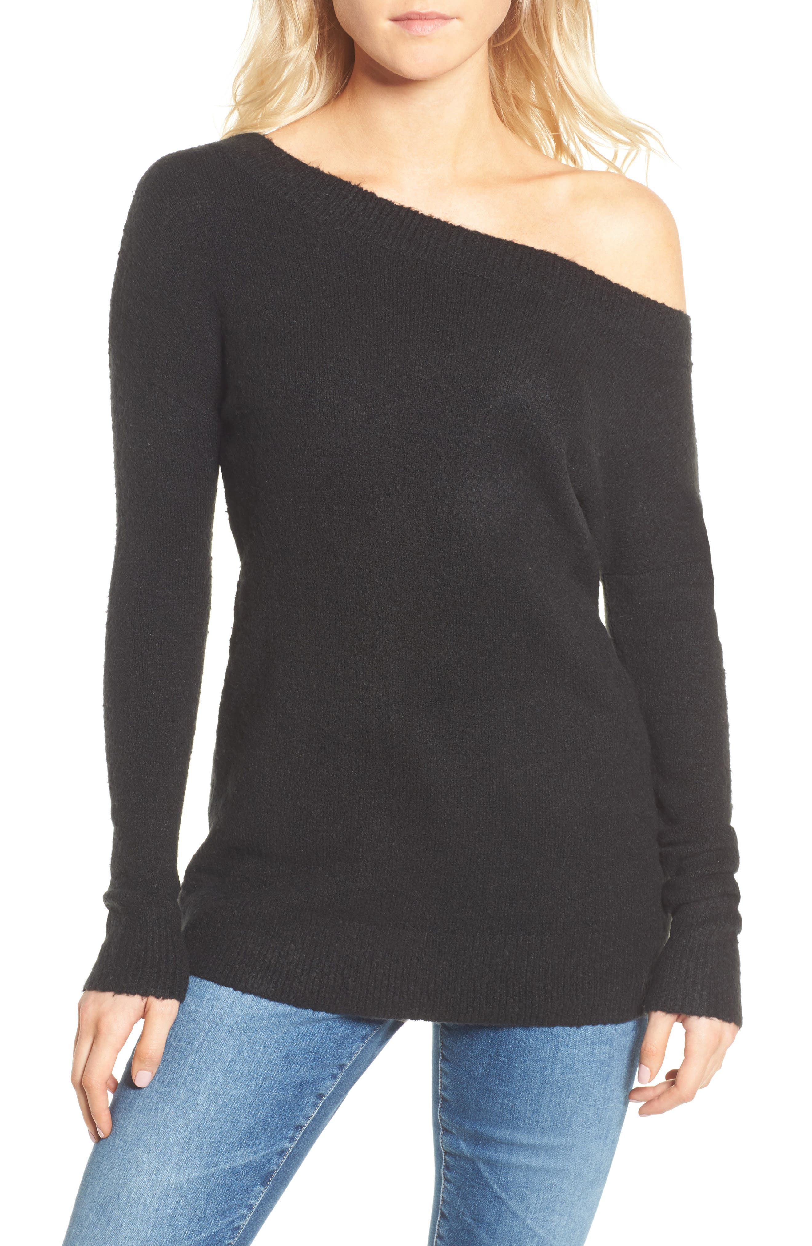 Urban Flossy One-Shoulder Sweater,                             Main thumbnail 1, color,
