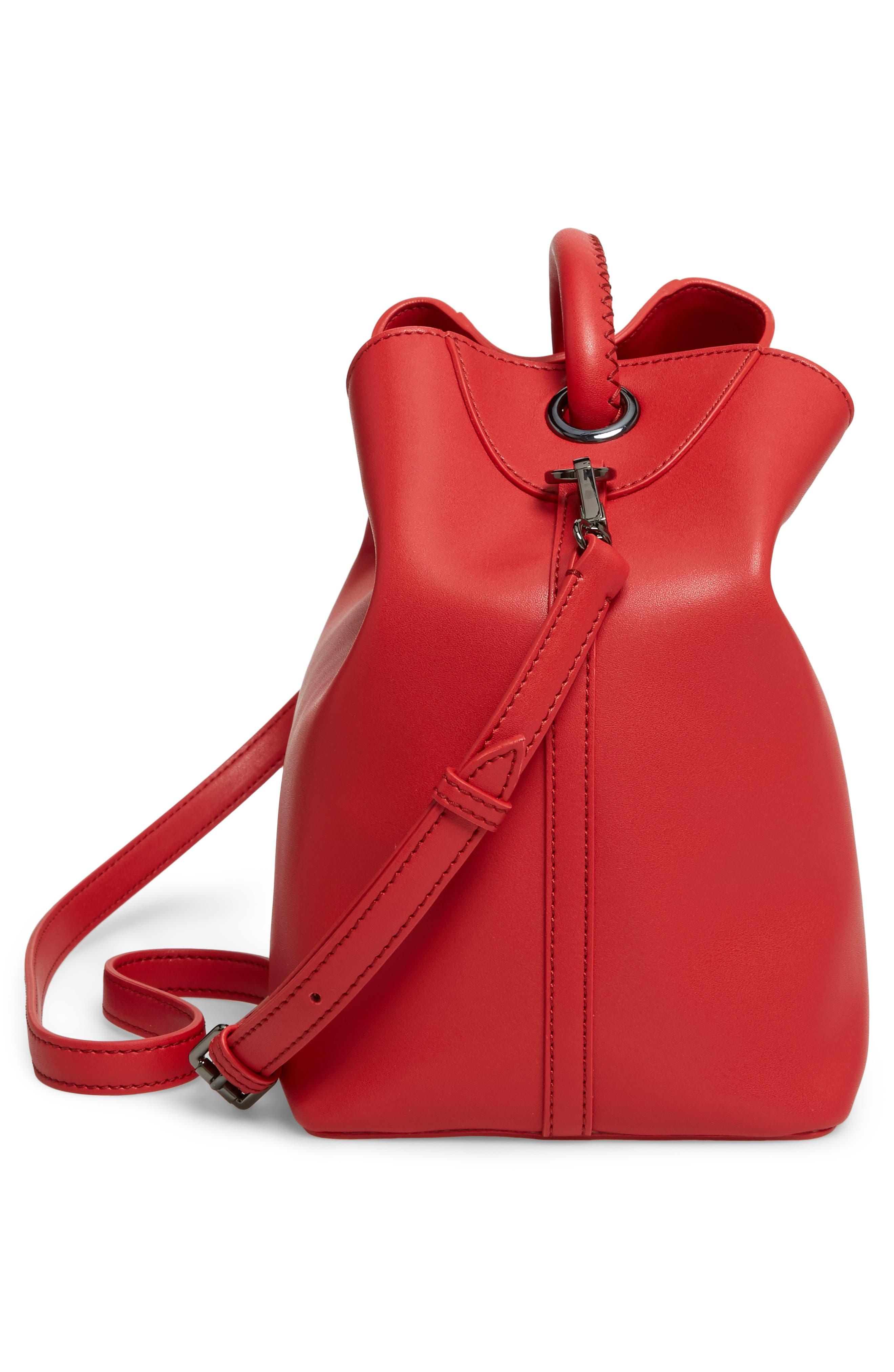 Raisin Leather Handbag,                             Alternate thumbnail 38, color,