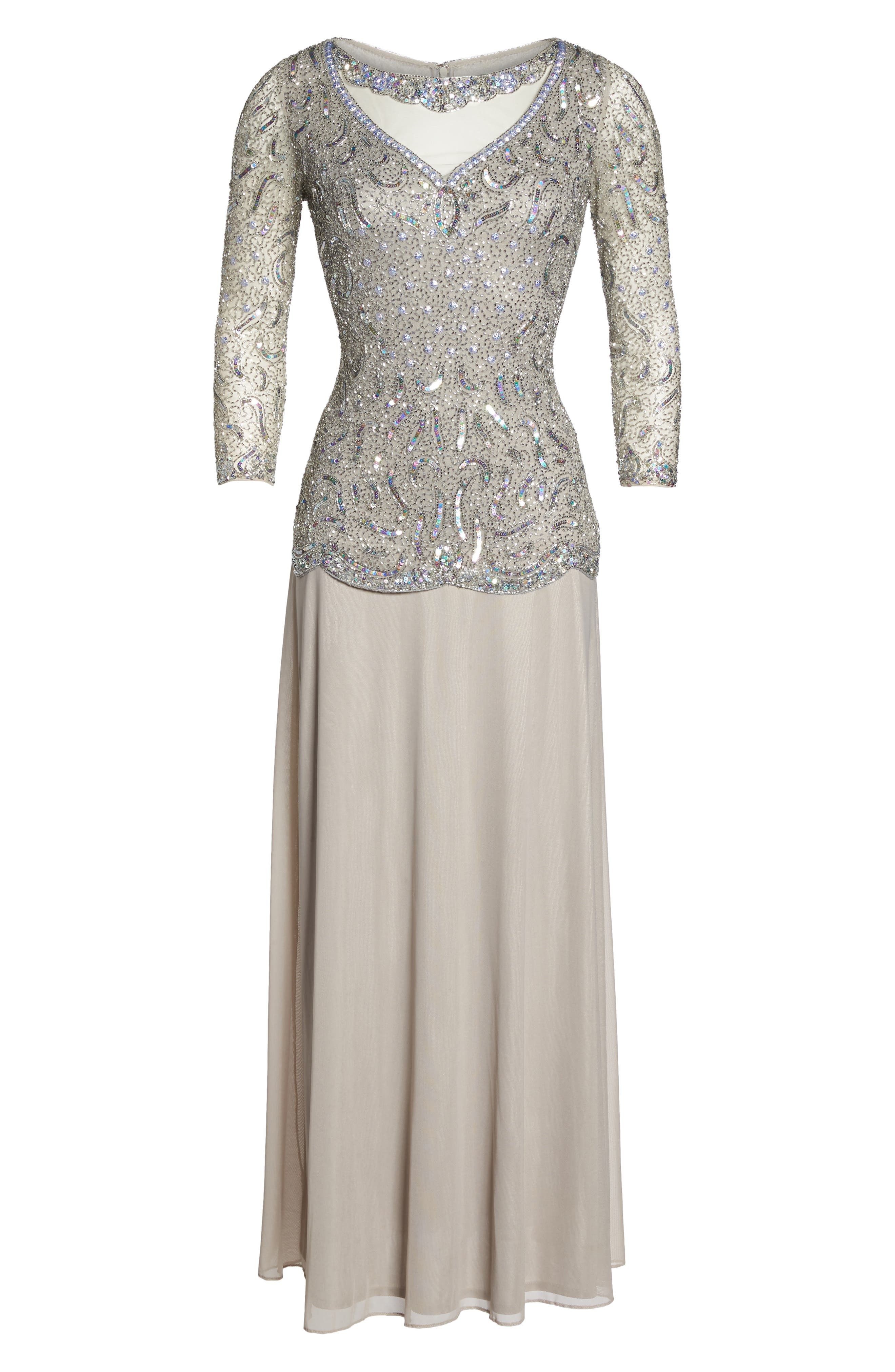 Embellished Two-Piece Gown,                             Alternate thumbnail 6, color,