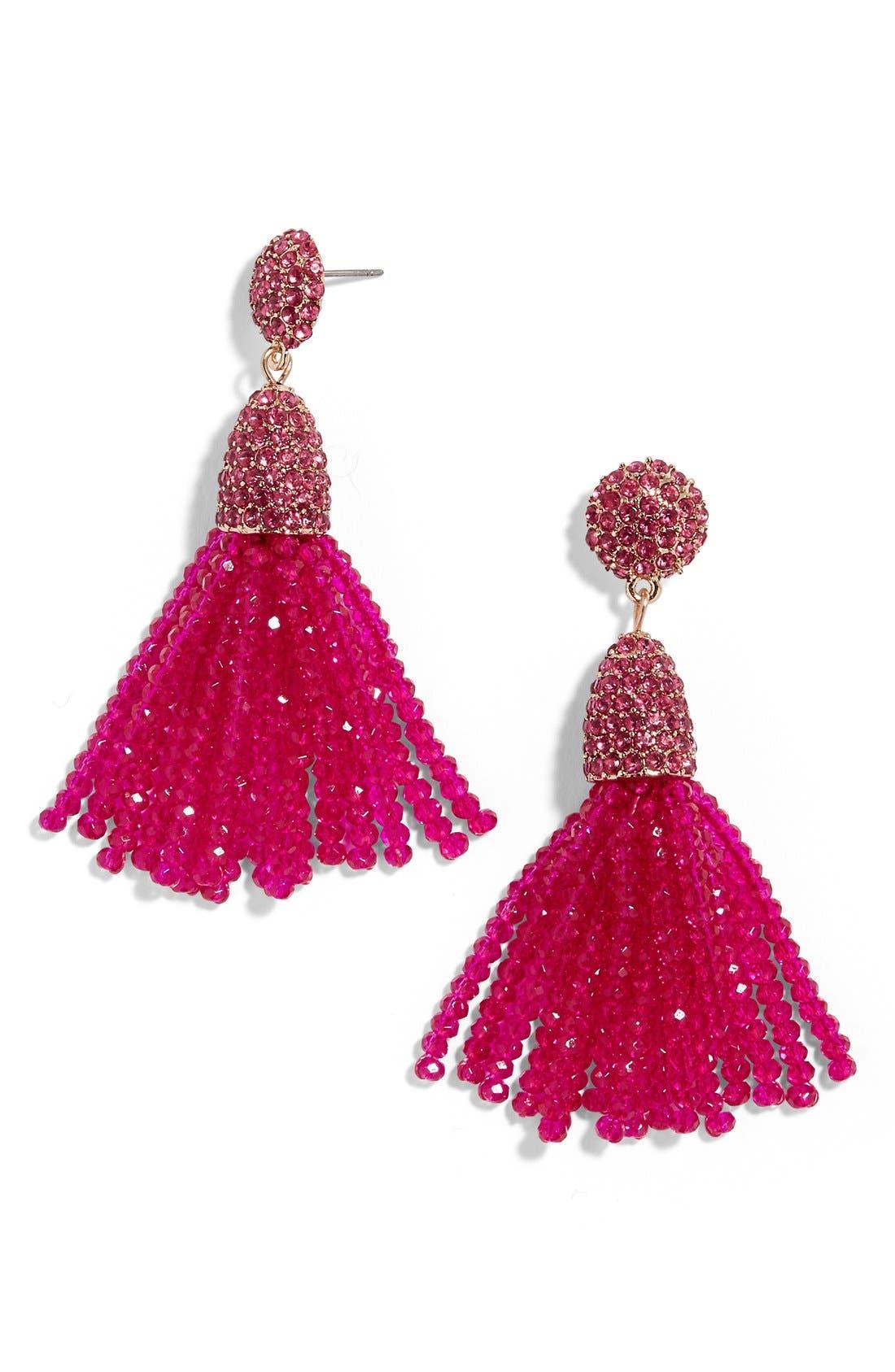 Annabelle Mini Tassel Drop Earrings,                             Alternate thumbnail 15, color,