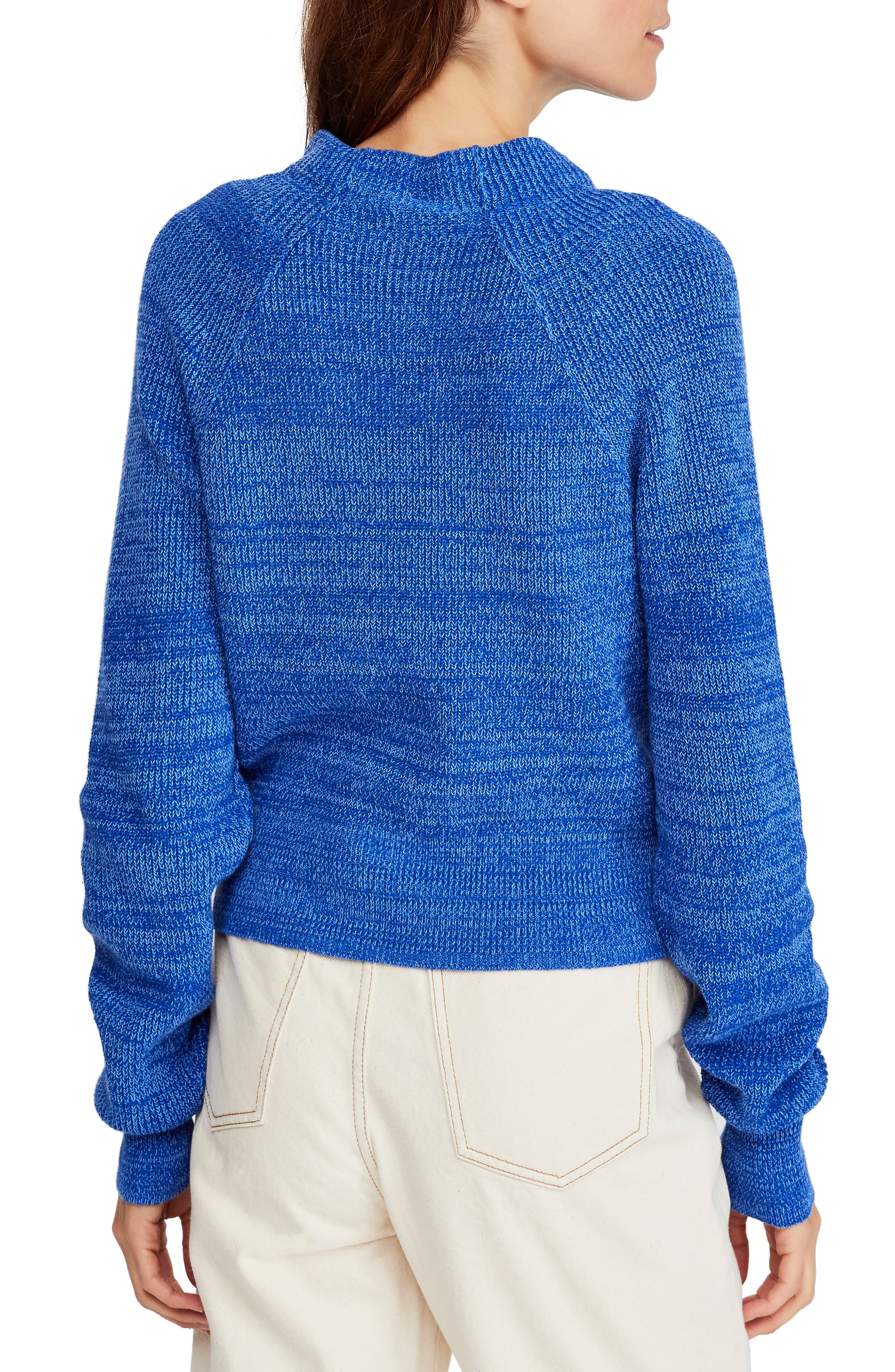 FREE PEOPLE,                             Too Good Sweater,                             Alternate thumbnail 2, color,                             BLUE