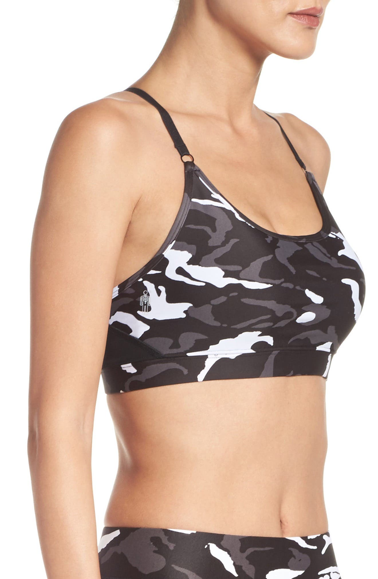 Gravity Medium Support Compression Sports Bra,                             Alternate thumbnail 7, color,