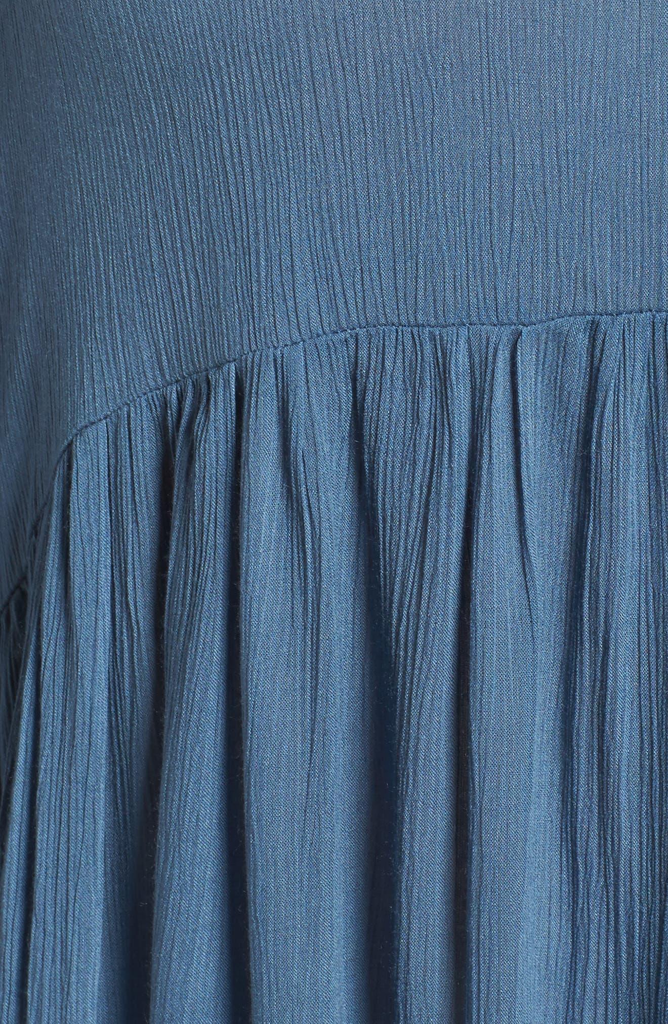 Button Front Shirtdress,                             Alternate thumbnail 5, color,                             455