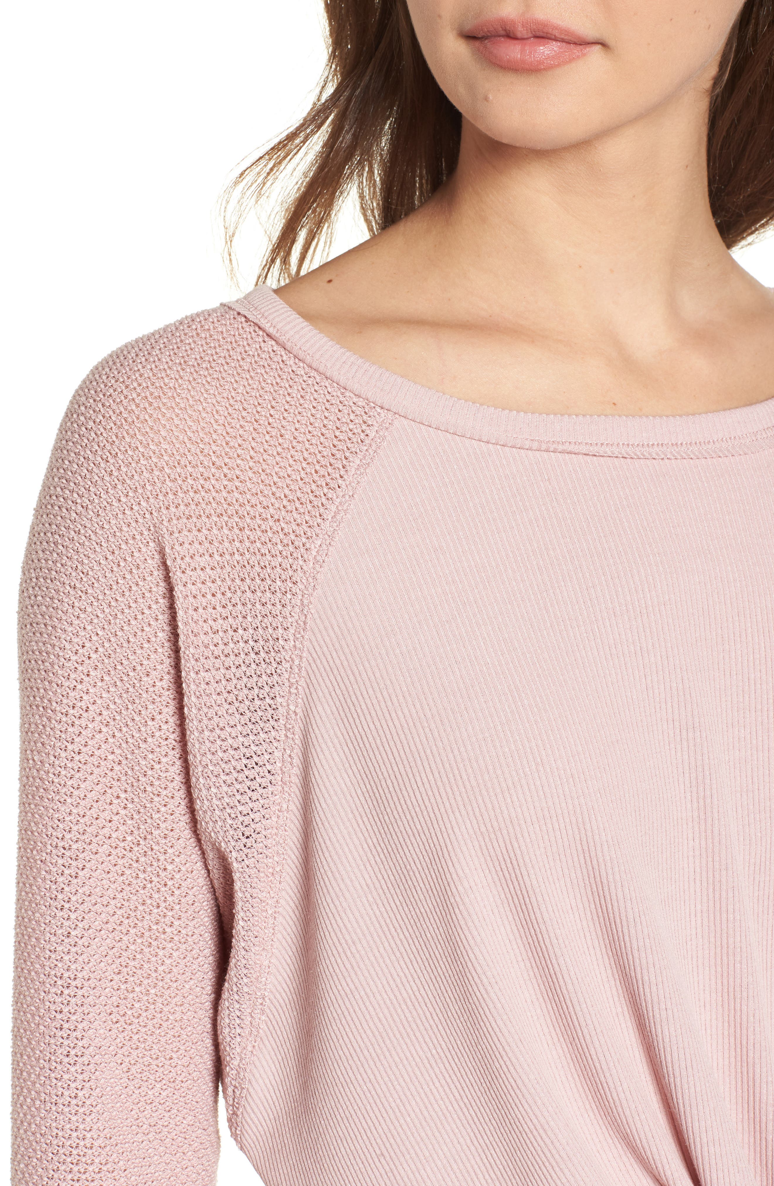 Contrast Sleeve Thermal Top,                             Alternate thumbnail 8, color,
