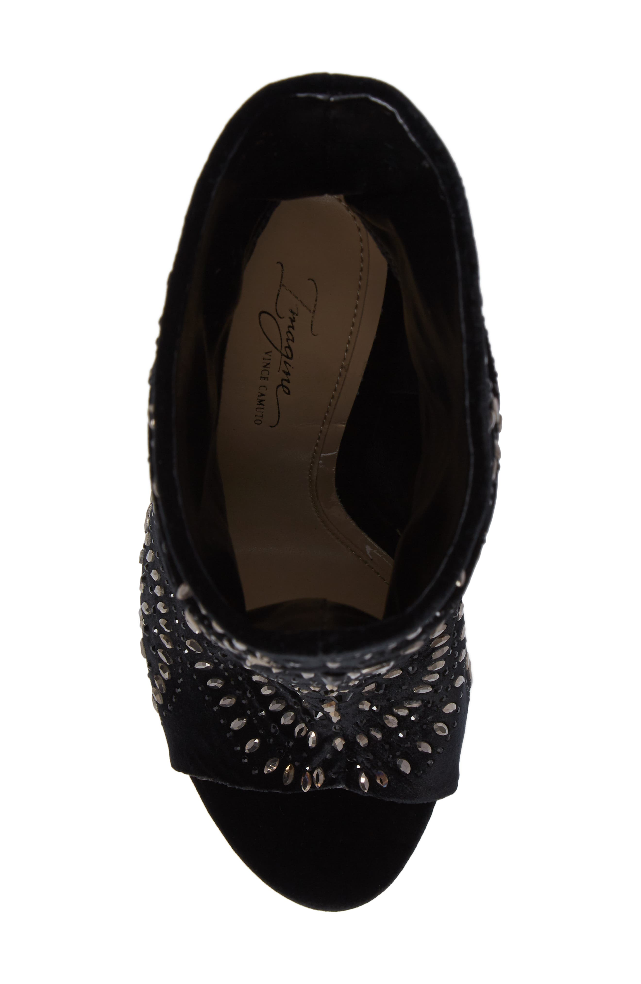 Imagine Vince Camuto Delore Embellished Slouchy Bootie,                             Alternate thumbnail 5, color,                             001