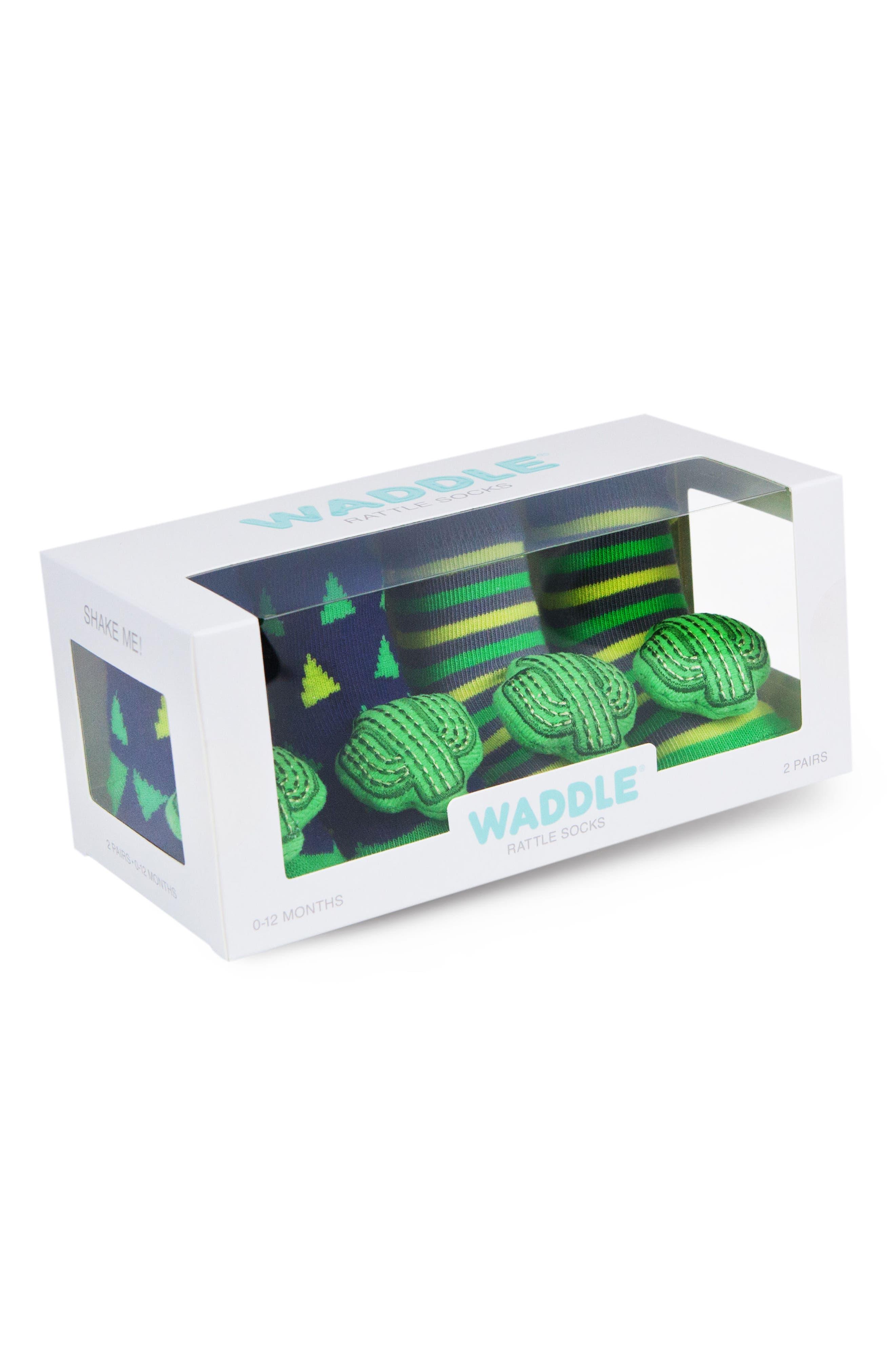 Cactus 2-Pack Rattle Socks,                             Alternate thumbnail 2, color,                             440