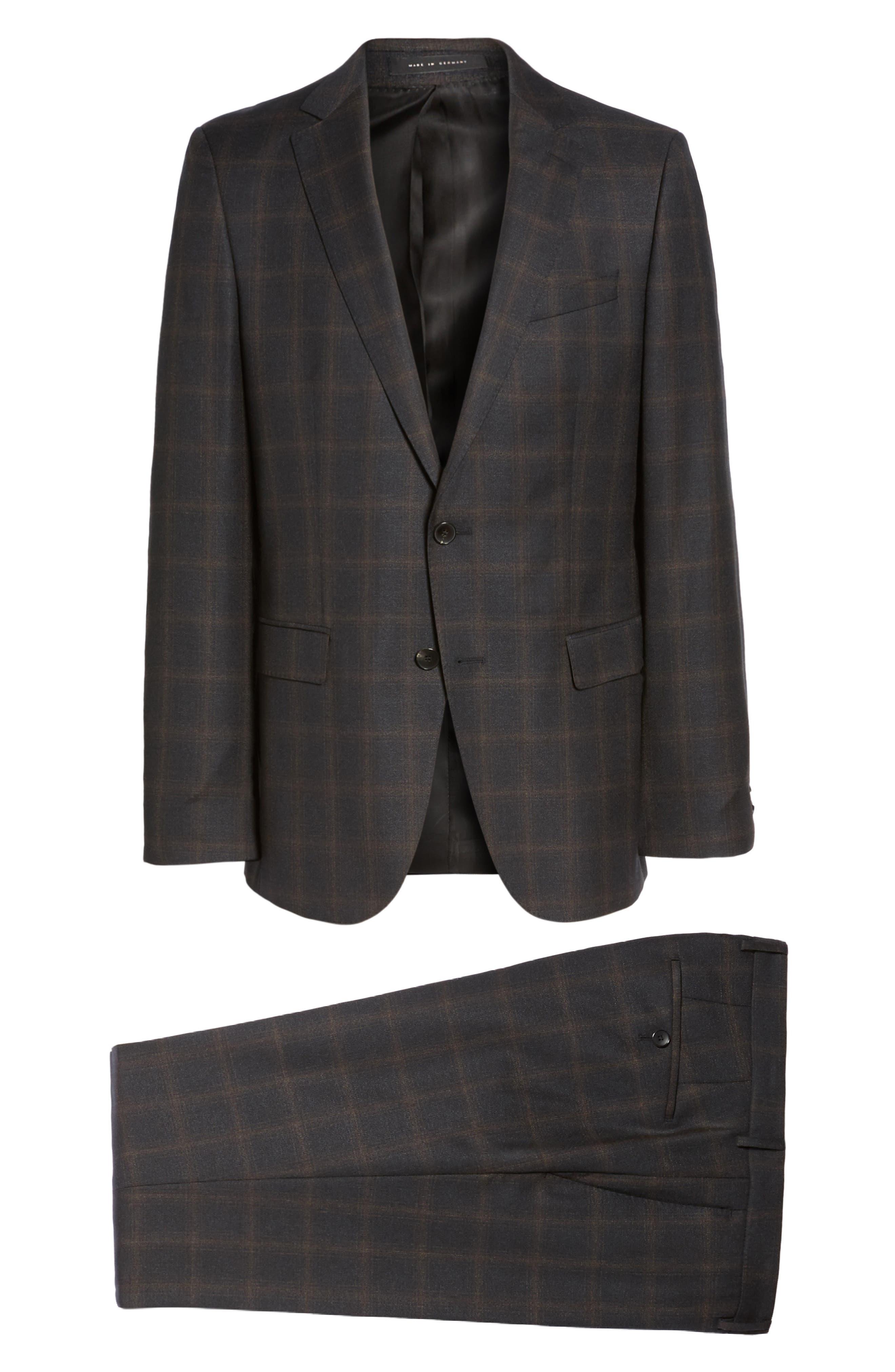 Novan/Ben Trim Fit Plaid Wool Suit,                             Alternate thumbnail 8, color,                             061