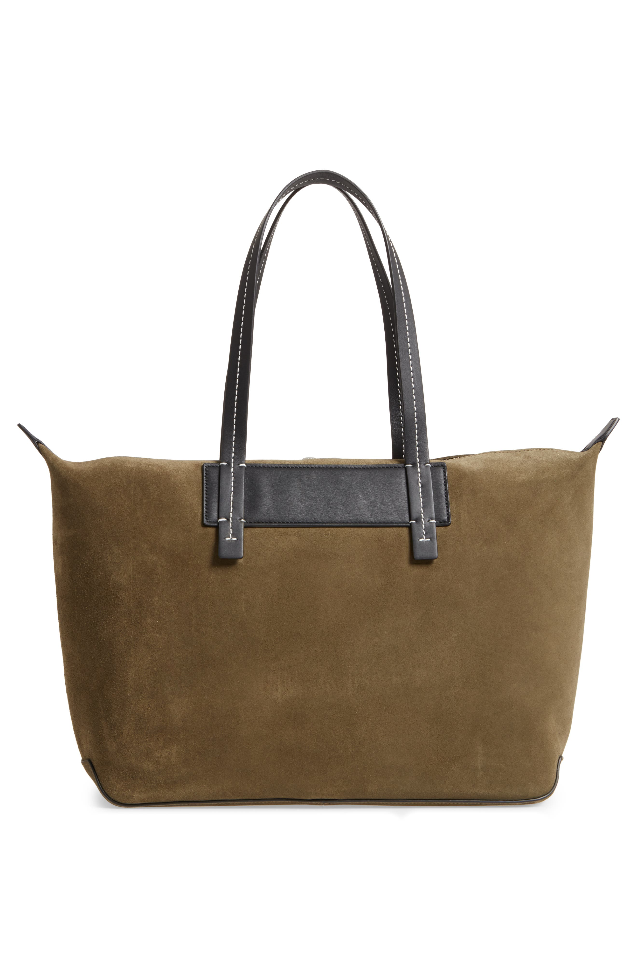 Compass Everyday Suede Tote,                             Alternate thumbnail 3, color,                             326