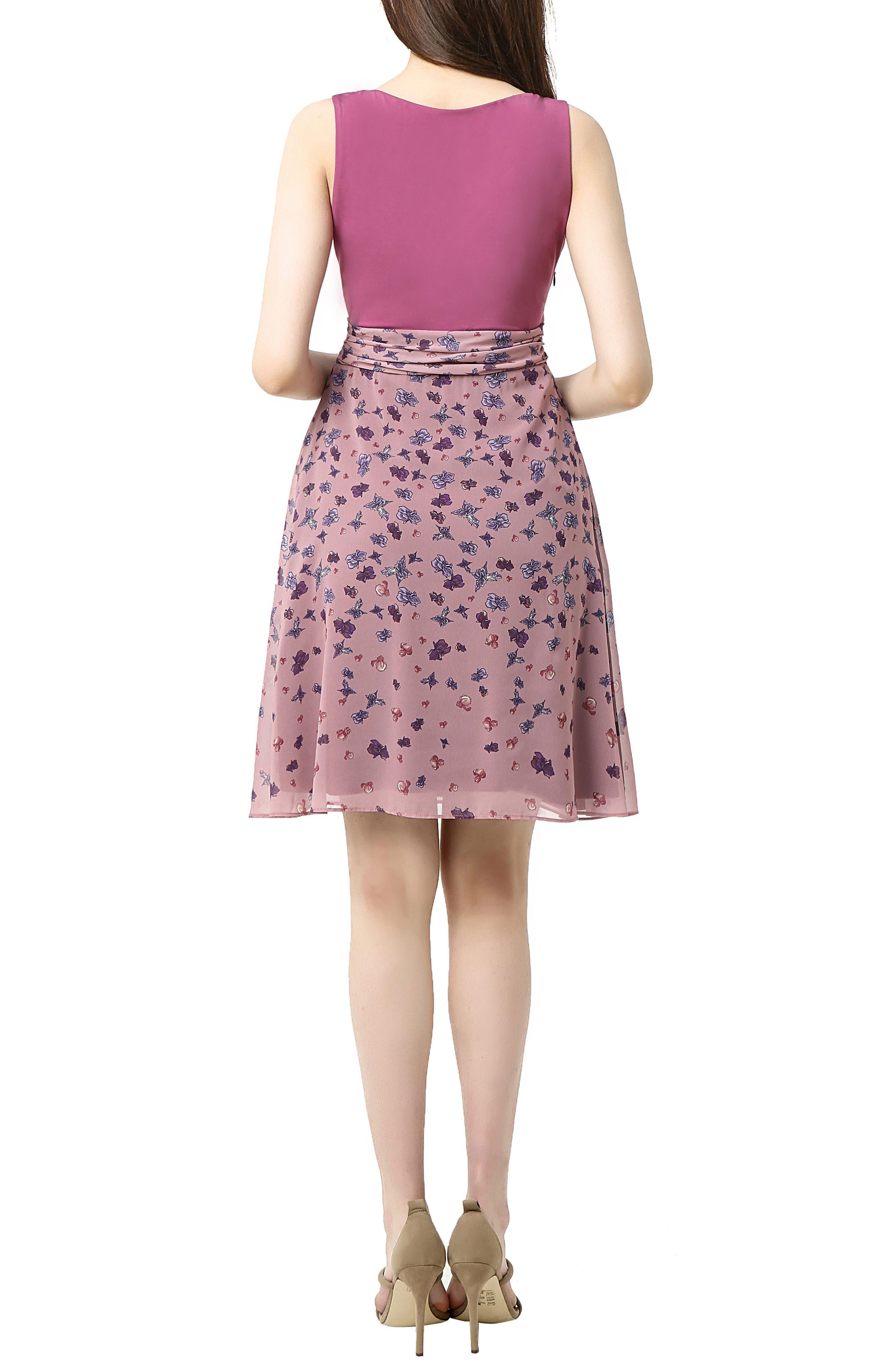 Libby Print Skirt Maternity Dress,                             Alternate thumbnail 2, color,                             ROSE PINK