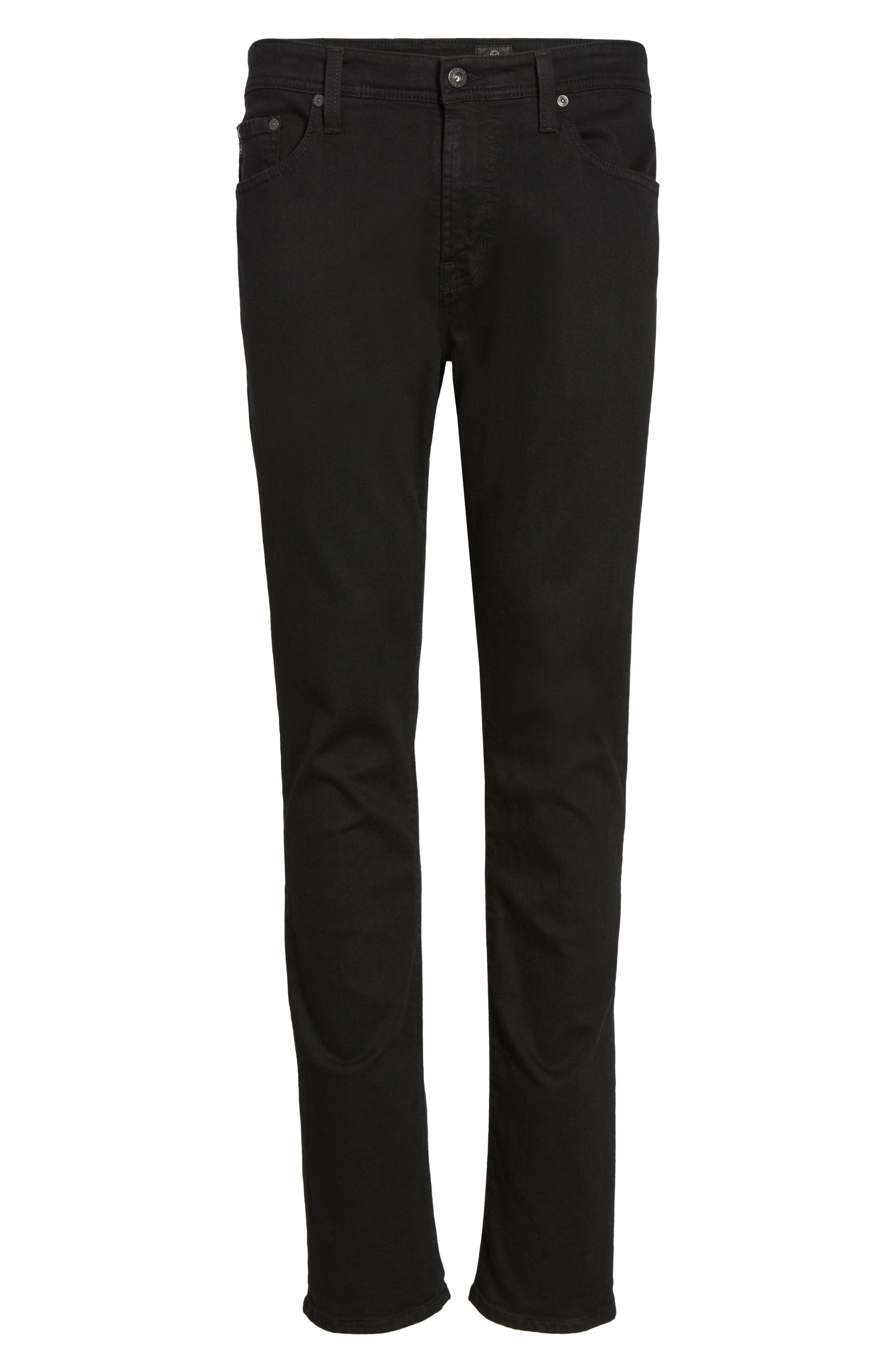 AG,                             Everett Slim Straight Fit Jeans,                             Alternate thumbnail 6, color,                             BLACK SOOT