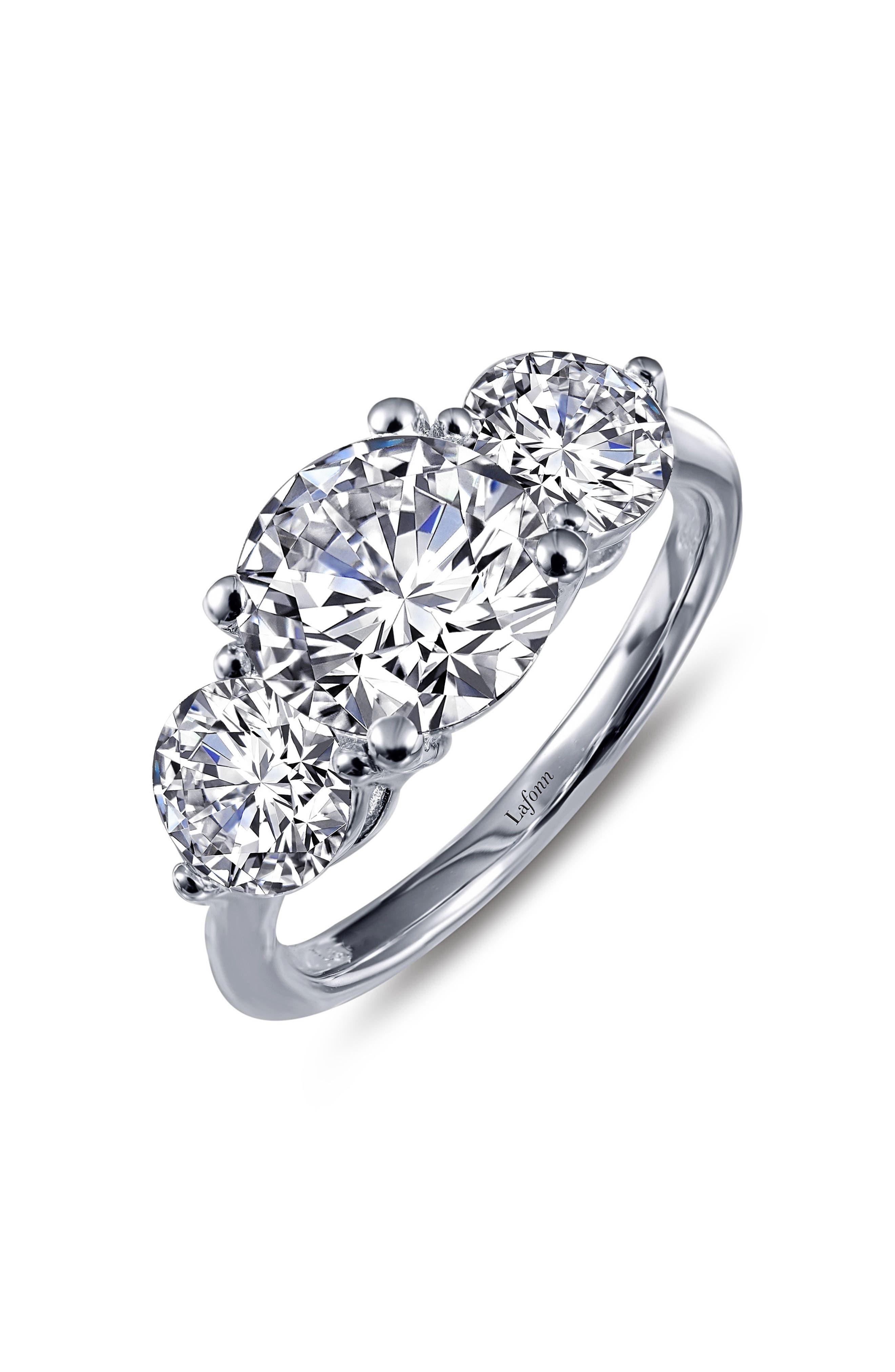 Simulated Diamond Ring,                             Main thumbnail 1, color,                             SILVER
