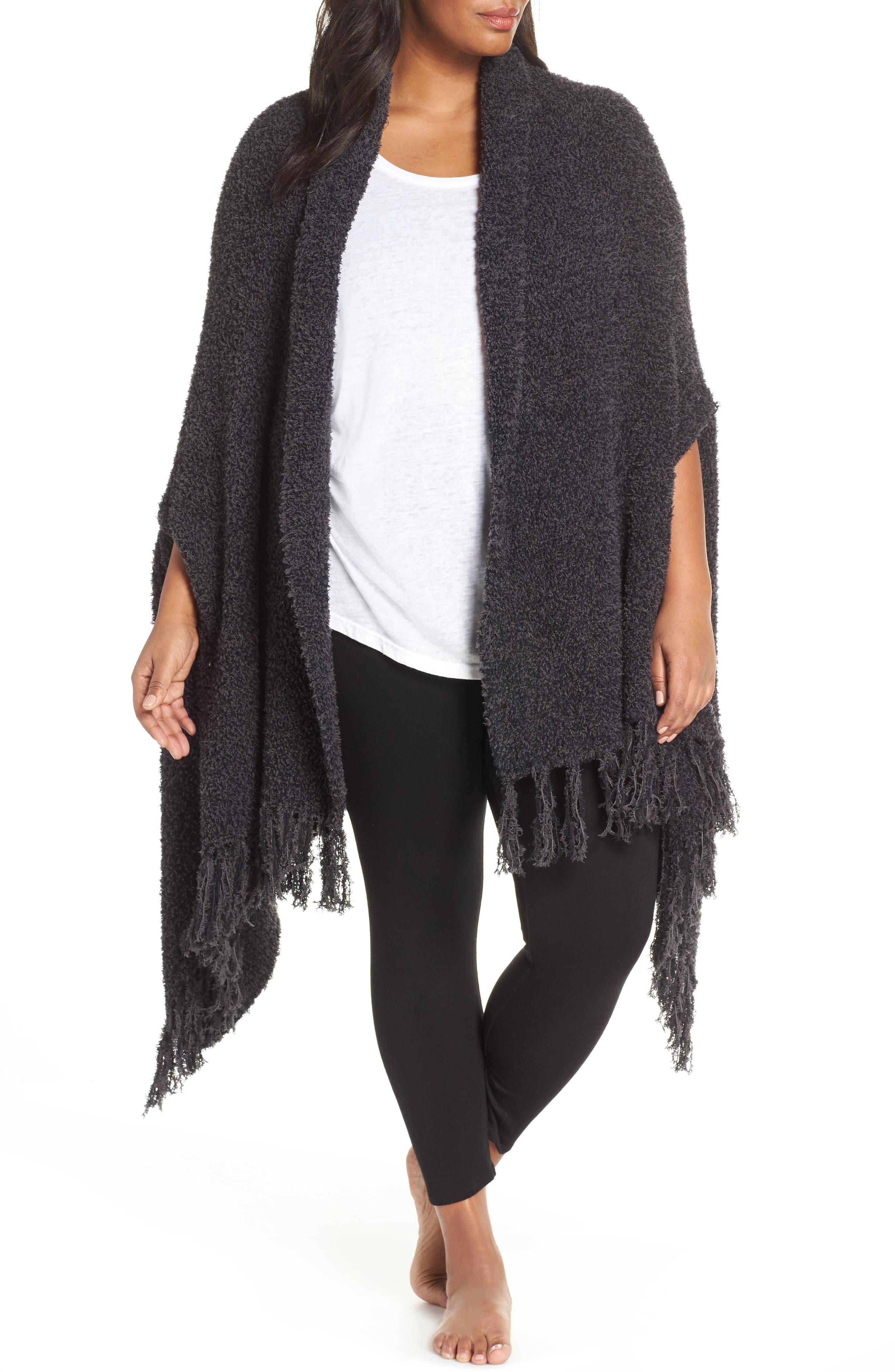 CozyChic<sup>®</sup> Luxe Laguna Wrap, Main, color, CARBON BLACK