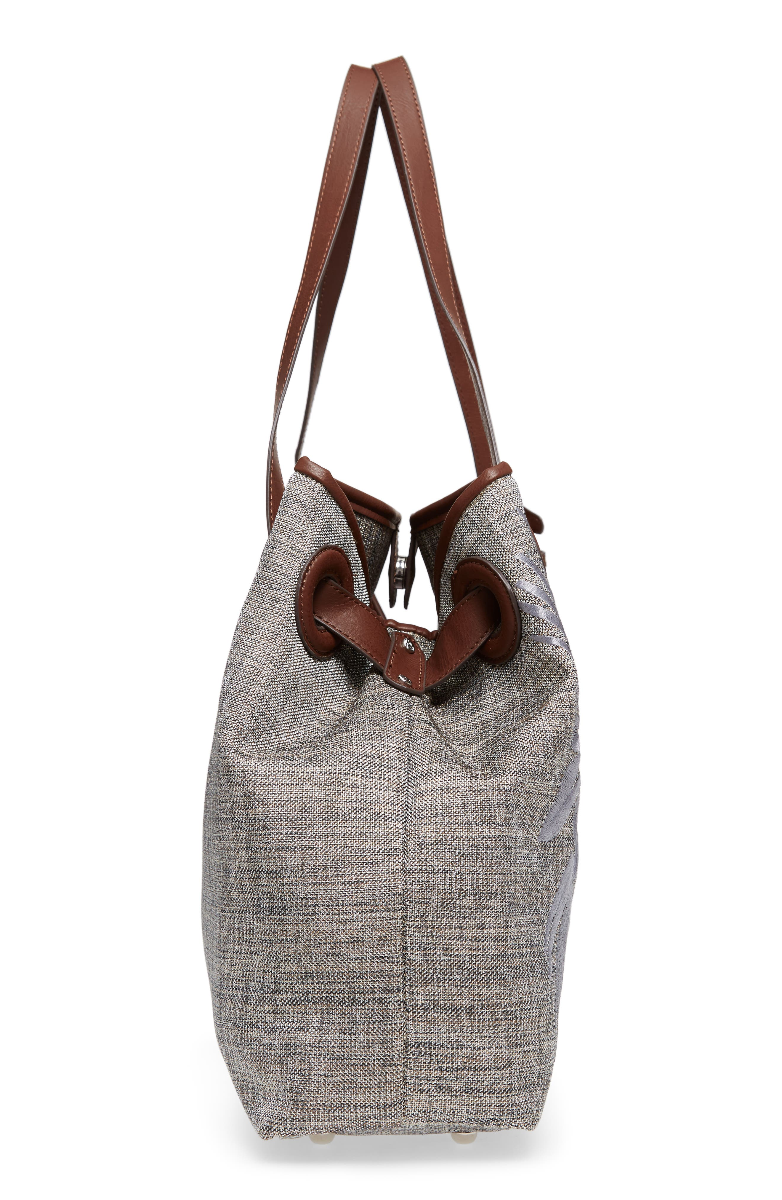 Waikiki Embroidered Canvas Tote,                             Alternate thumbnail 14, color,