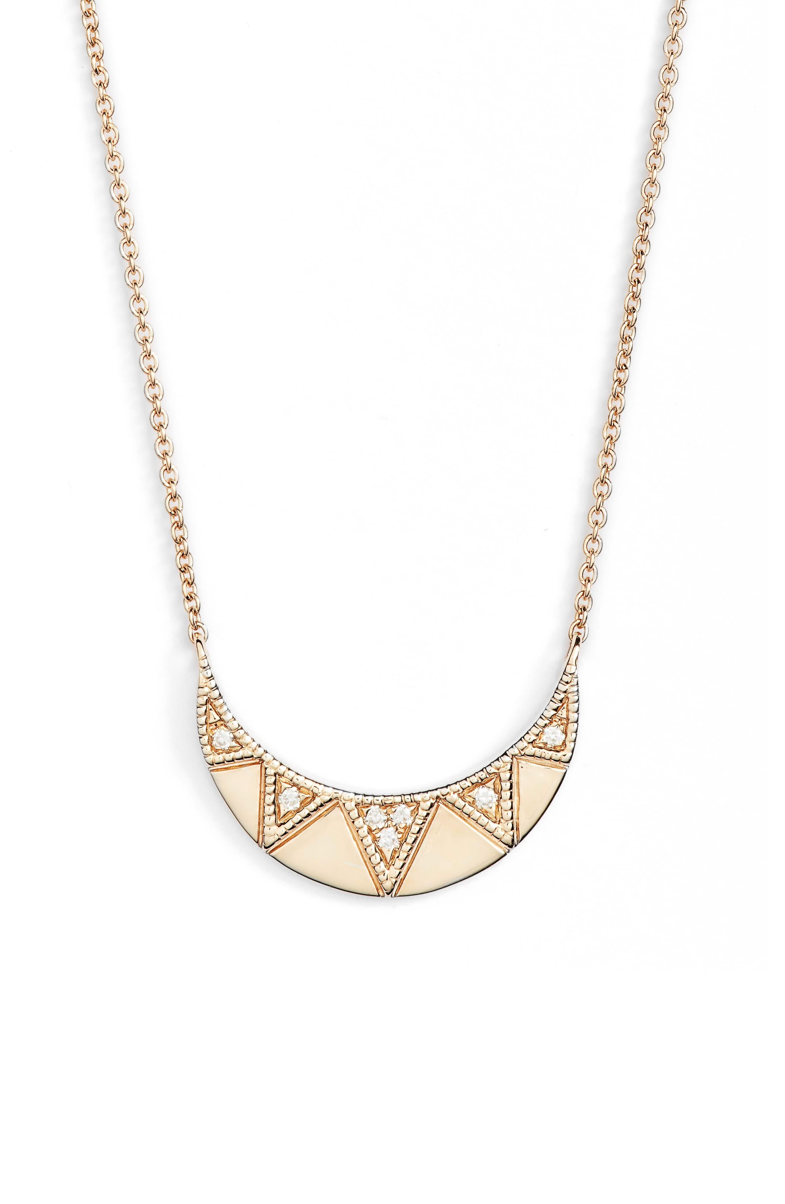Jeanie Ann Diamond Pendant Necklace,                             Main thumbnail 1, color,                             710