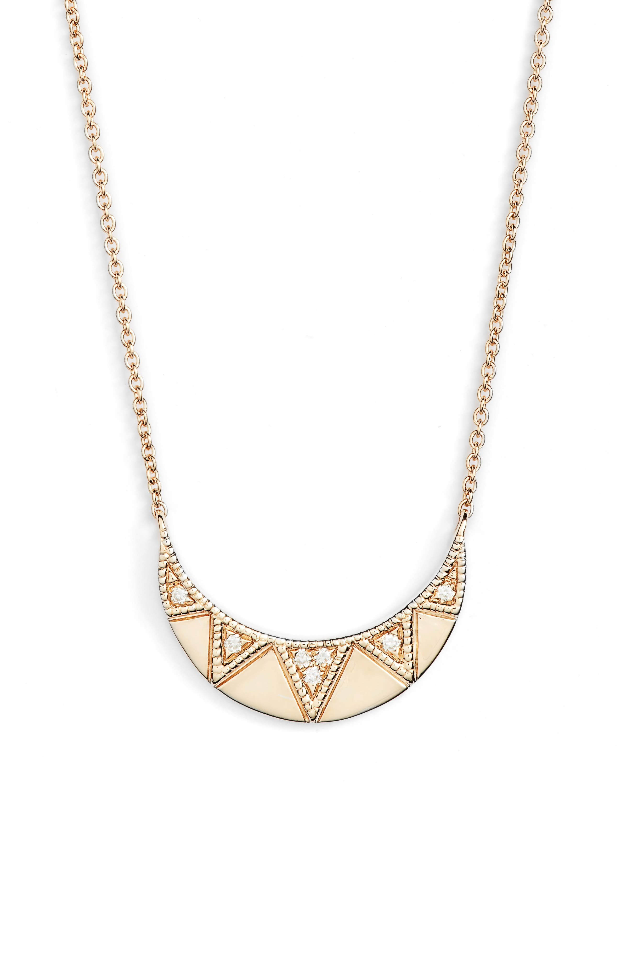Jeanie Ann Diamond Pendant Necklace,                         Main,                         color, 710