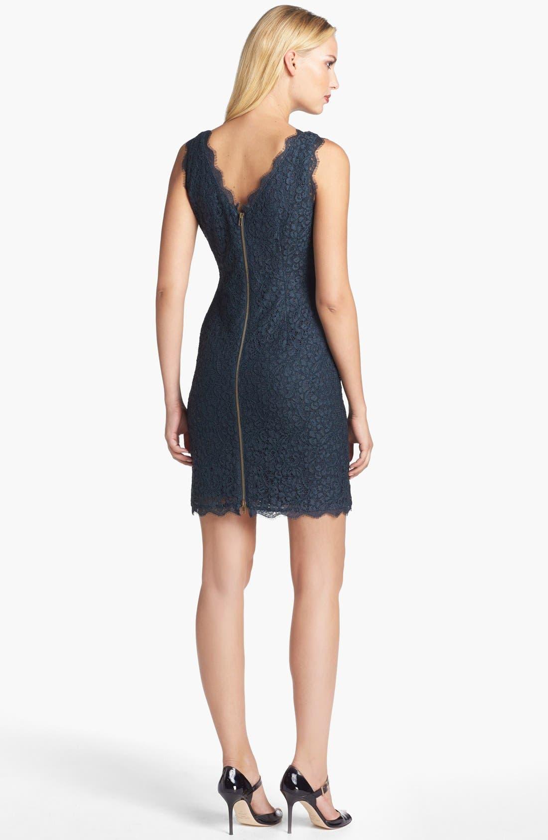 Boatneck Lace Sheath Dress,                             Alternate thumbnail 40, color,