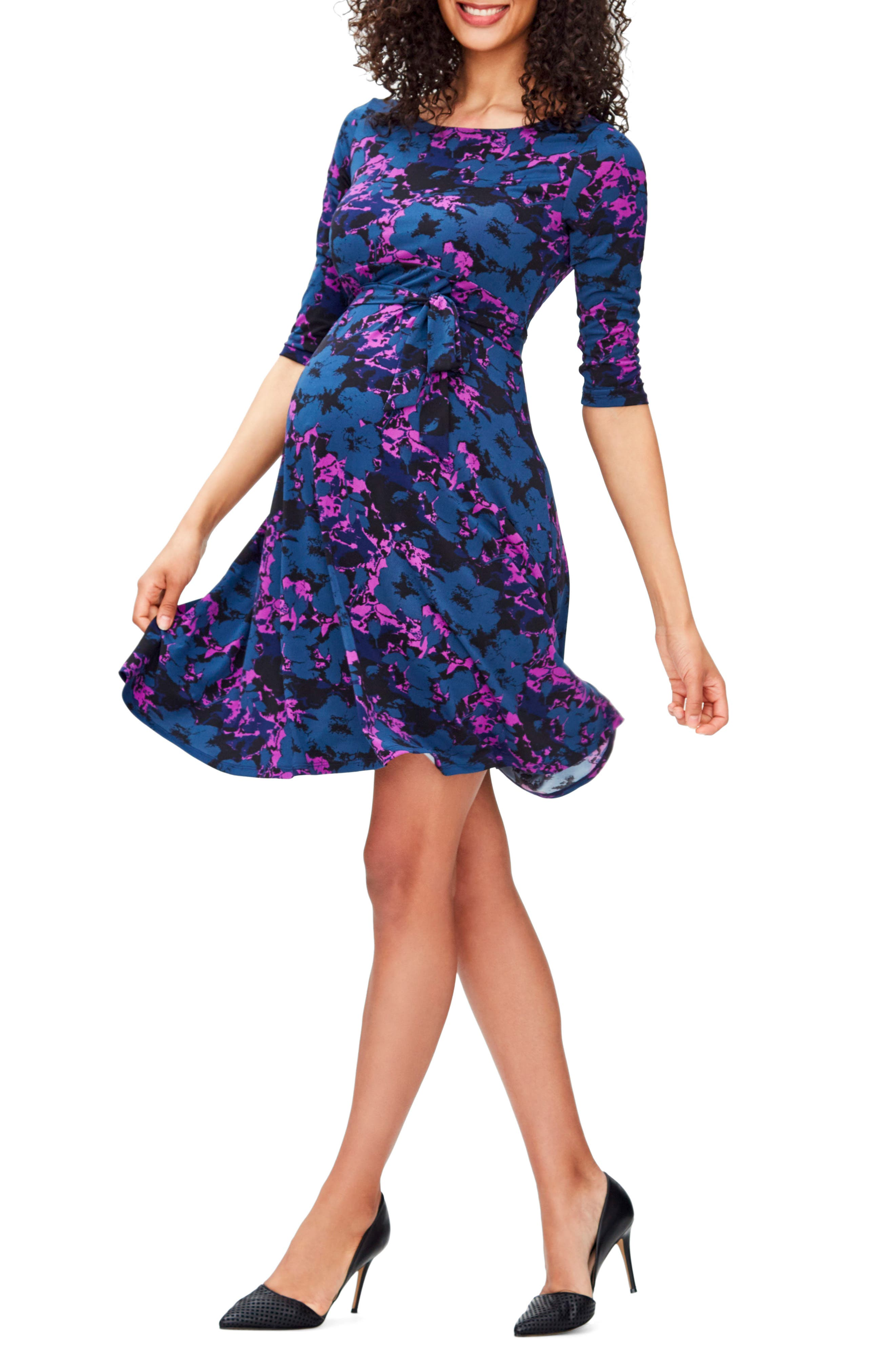 'Ilana' Belted Maternity Dress,                             Alternate thumbnail 37, color,