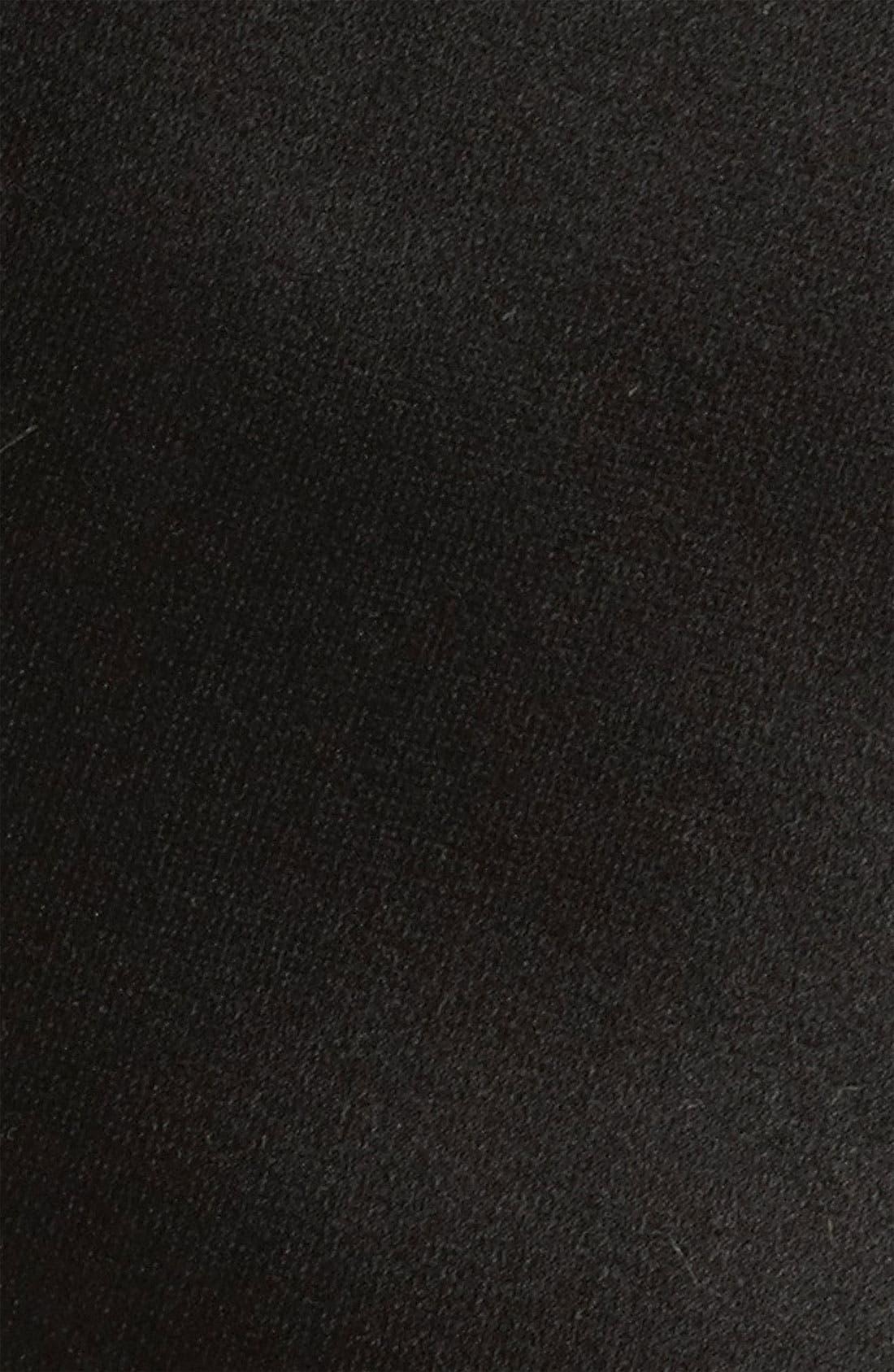 Woven Silk Tie,                             Alternate thumbnail 2, color,                             BLACK