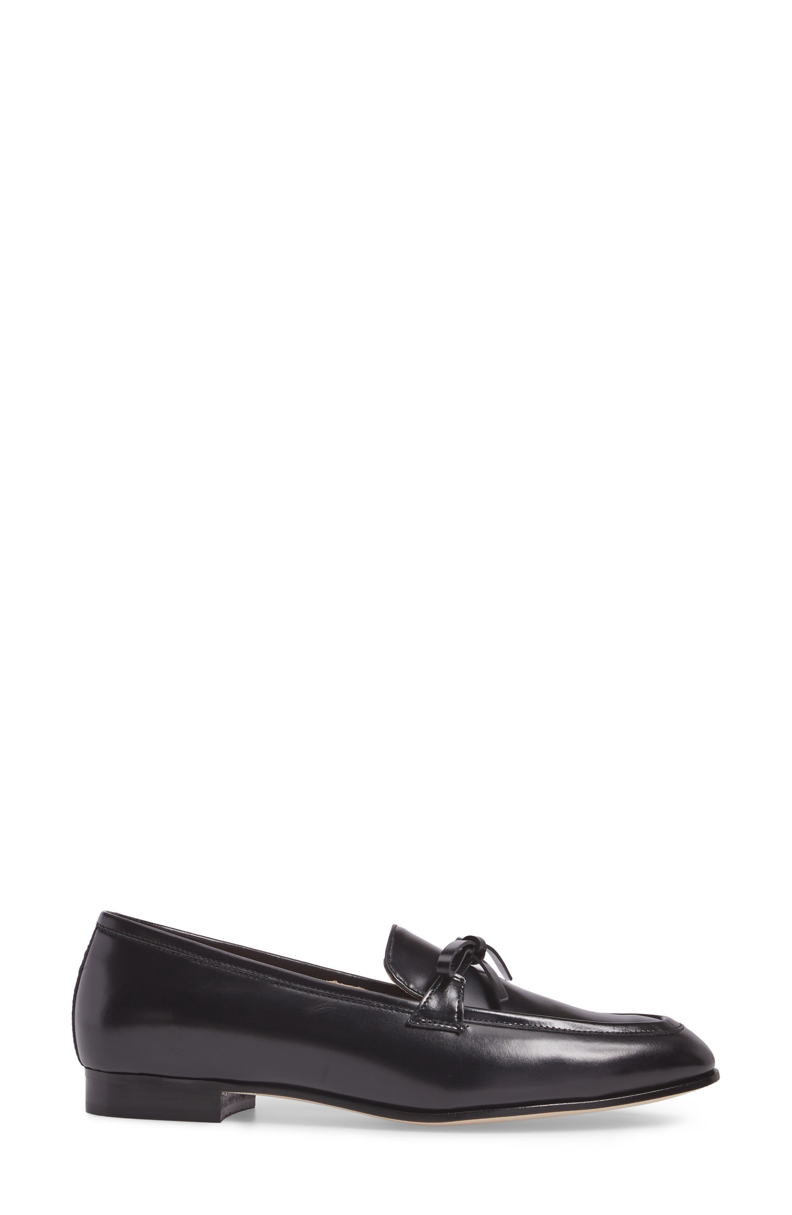 Bow Loafer,                             Alternate thumbnail 3, color,                             001