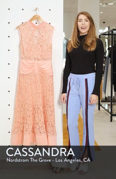 Floral Lace Sleeveless Midi Dress, sales video thumbnail
