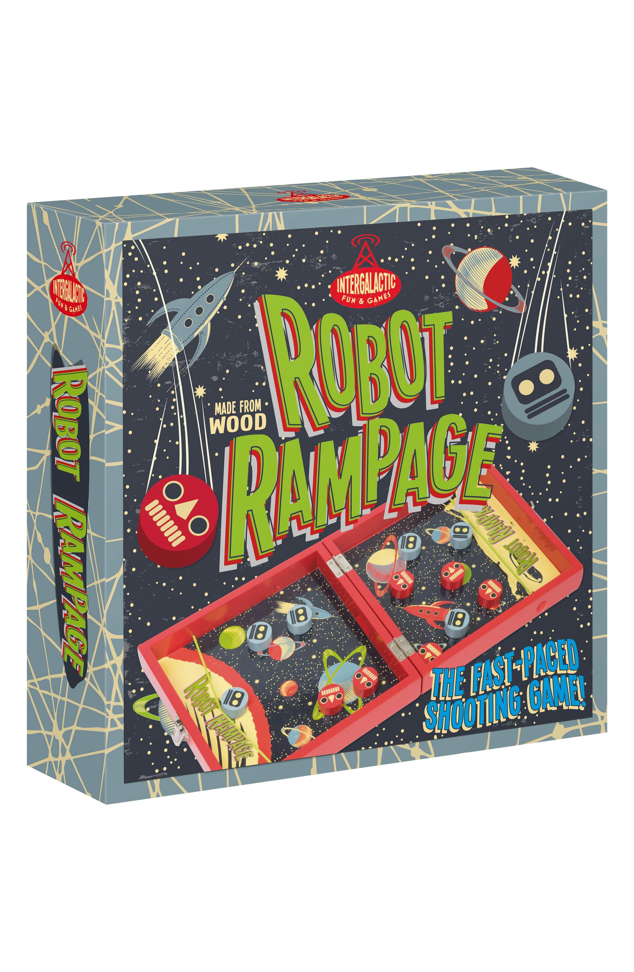 11-Piece Pinball Robot Rampage Game,                         Main,                         color, MULTI