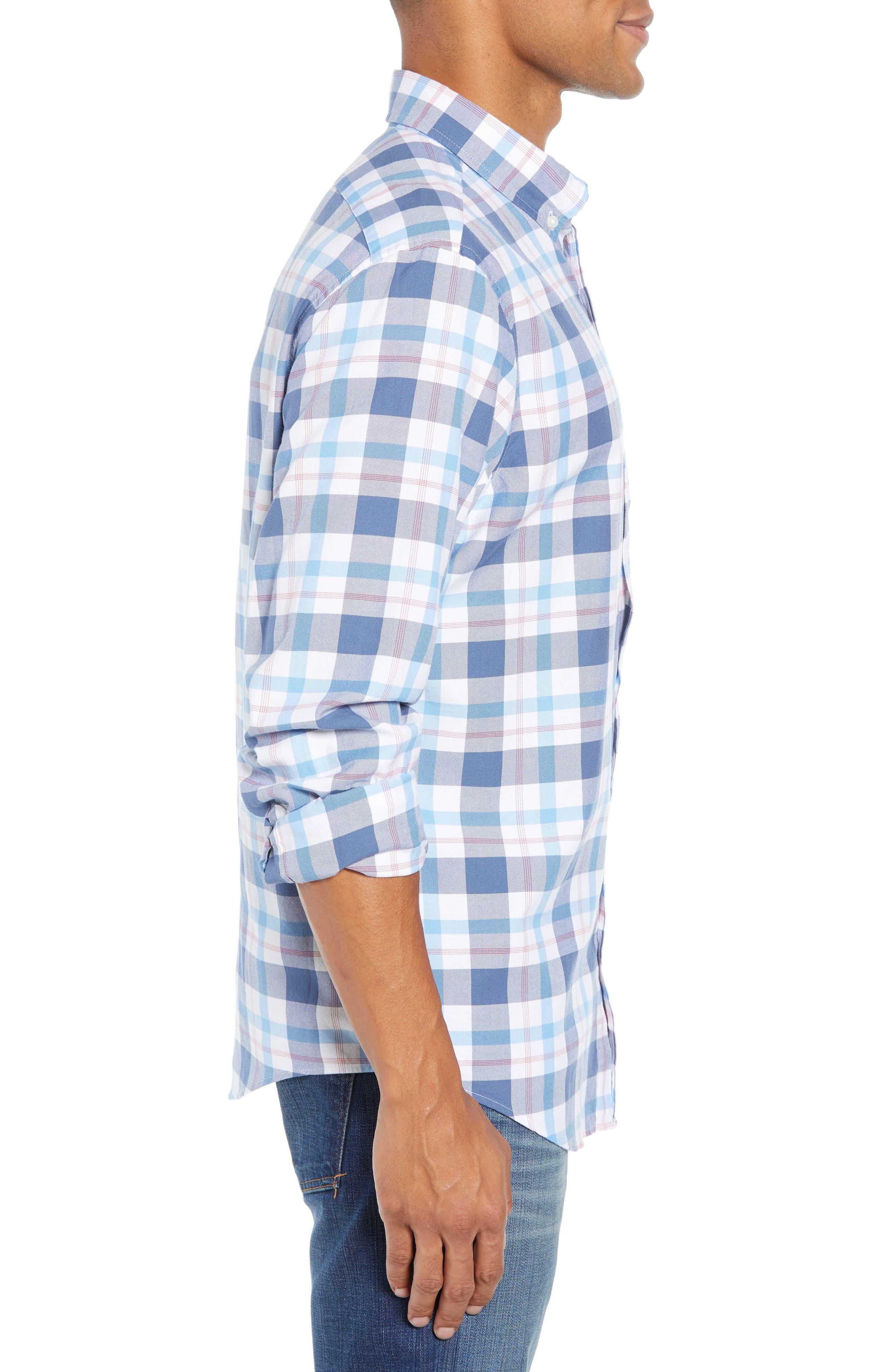Tucker Slim Fit Slim Fit Plaid Sport Shirt,                             Alternate thumbnail 4, color,                             631
