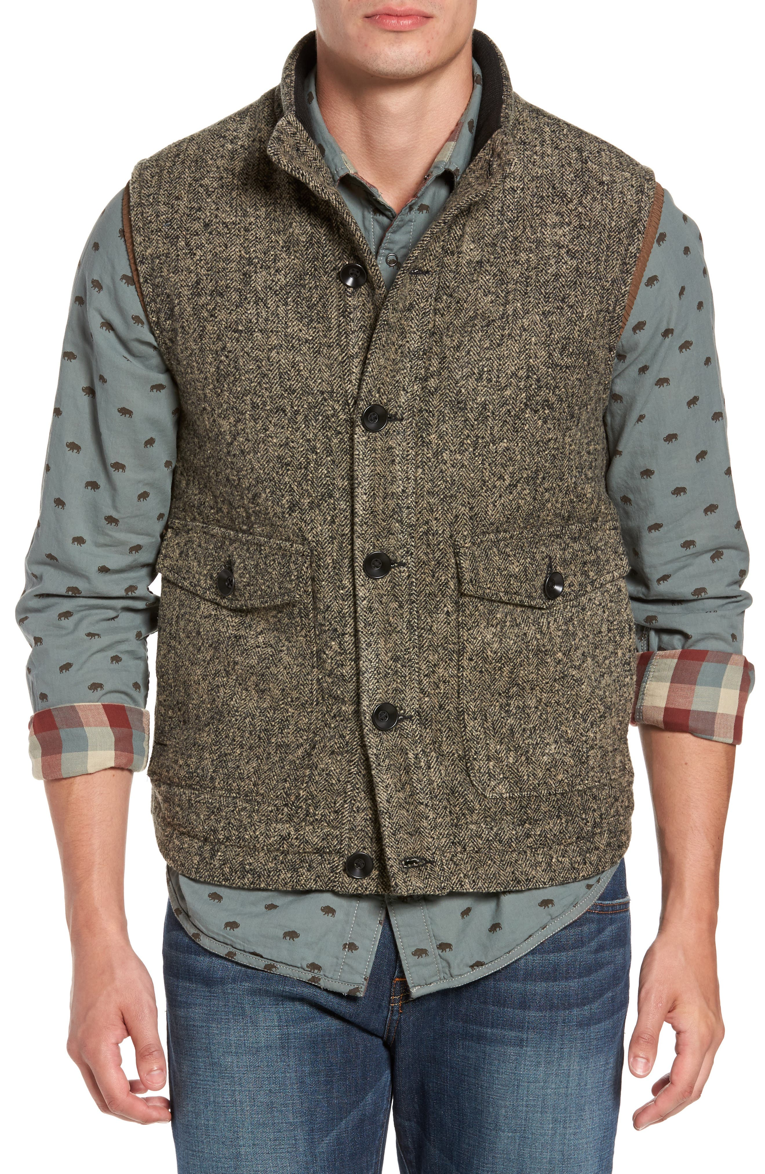 Sanford Herringbone Vest,                             Main thumbnail 1, color,                             200