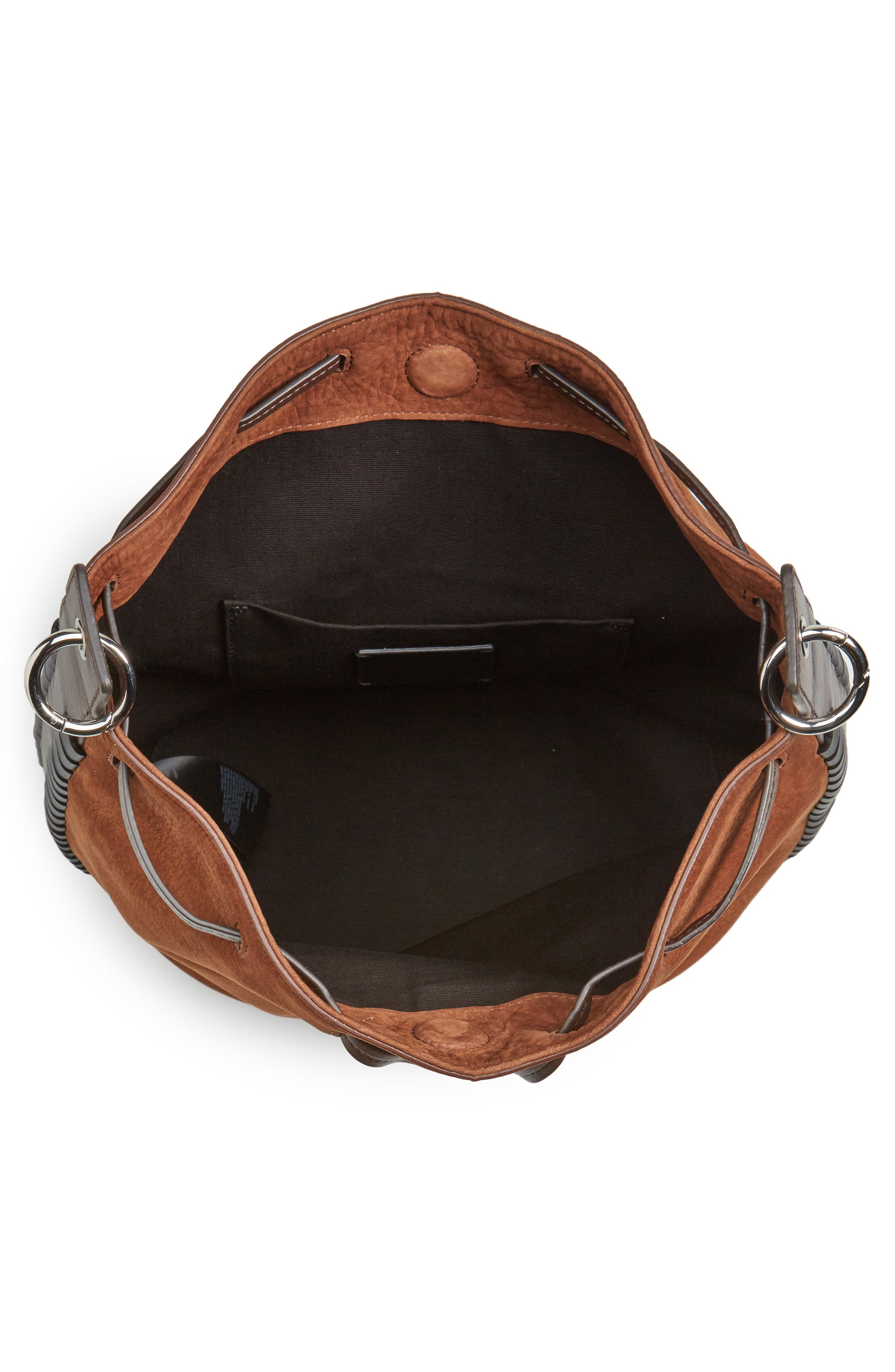 Ray Nubuck Leather Bucket Bag,                             Alternate thumbnail 4, color,                             200