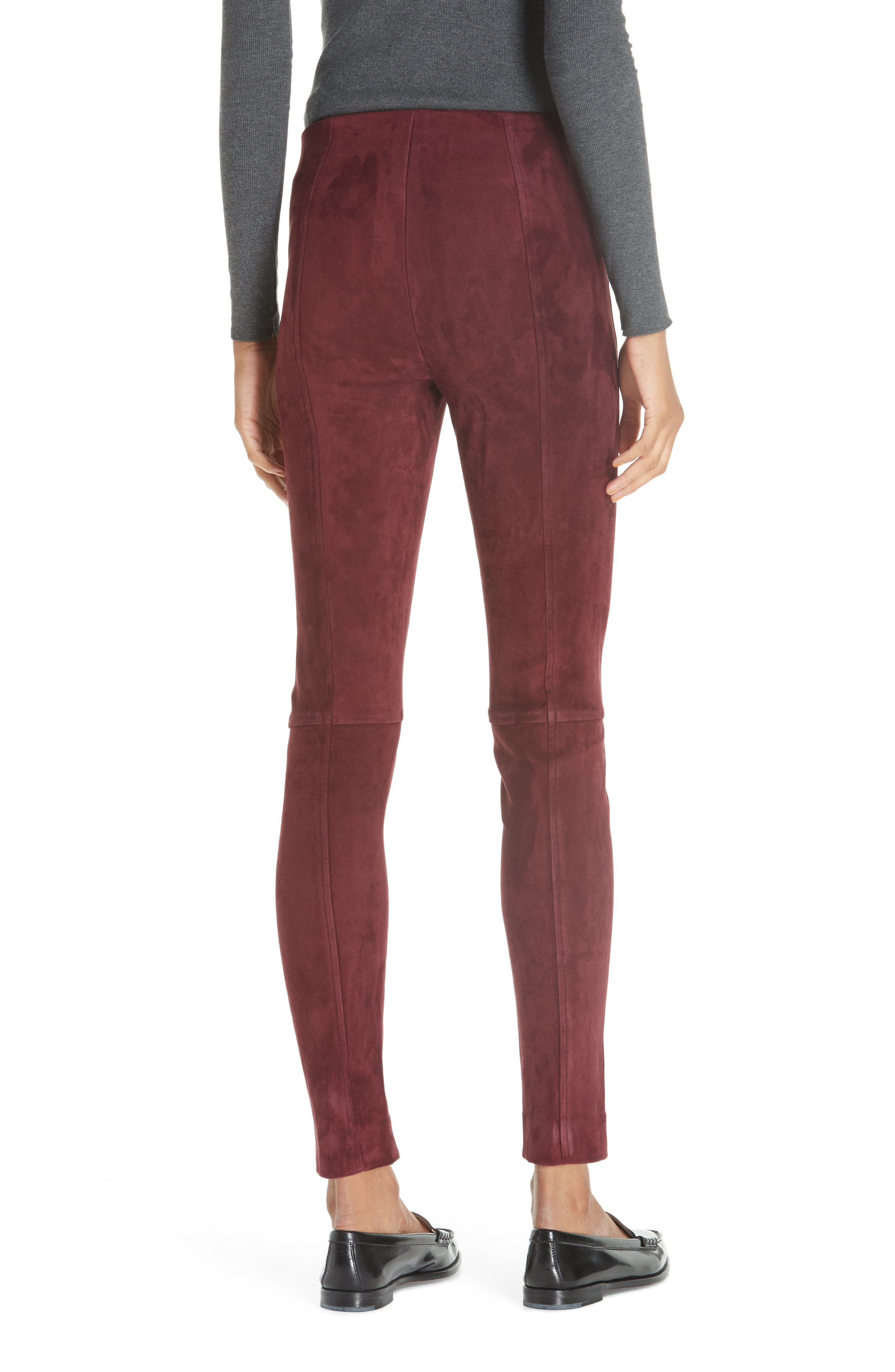 POLO RALPH LAUREN,                             Pull-On Skinny Suede Pants,                             Alternate thumbnail 2, color,                             930