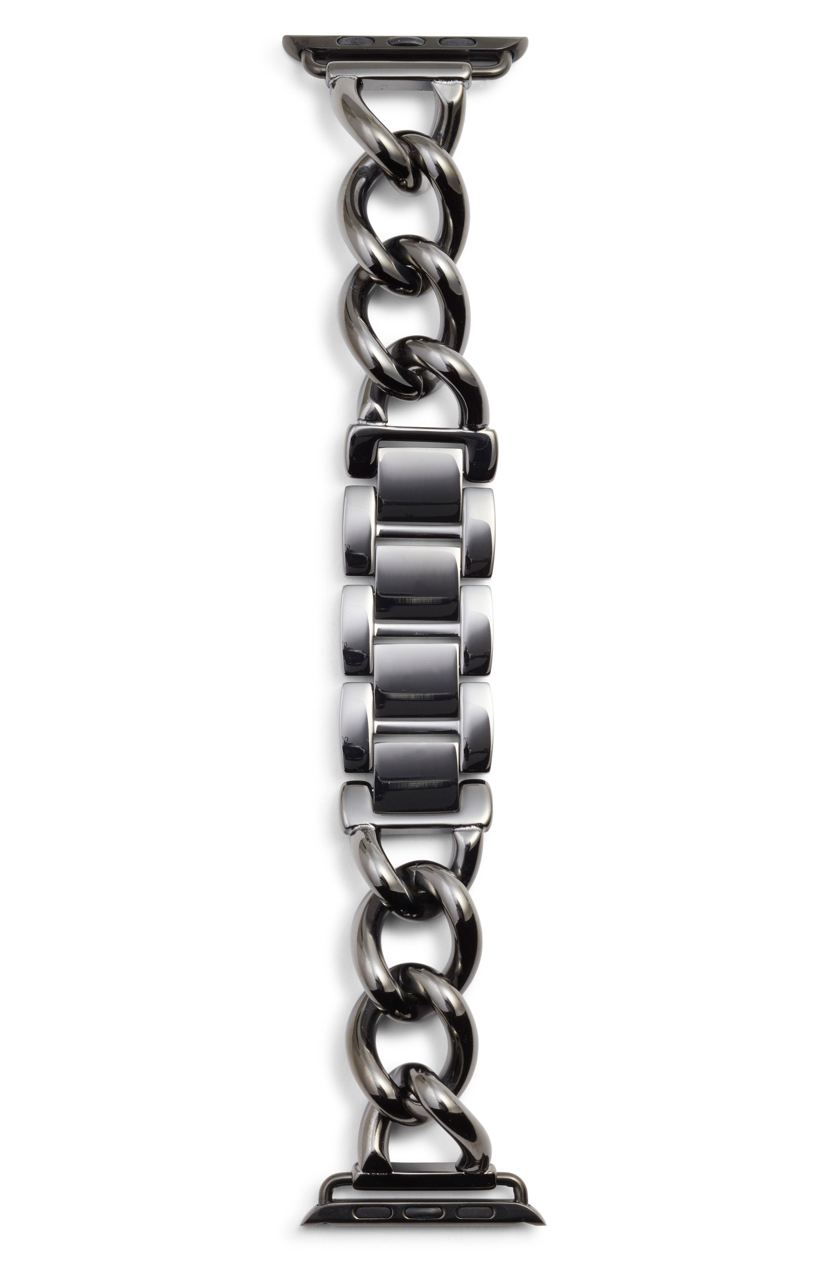 Bezels & Bytes Chunky Curb Chain Apple Watch Band, 42mm,                         Main,                         color, 042